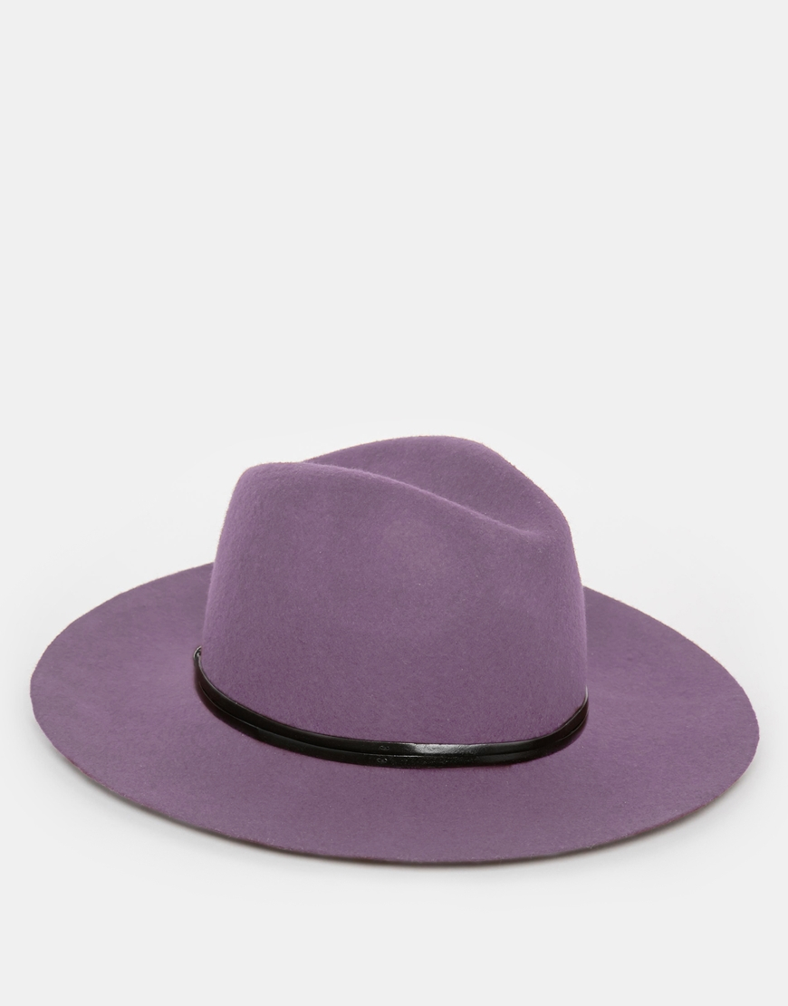 87fc9af98c9 Lyst - Catarzi Wide Brim Unstructured Fedora Hat in Purple for Men