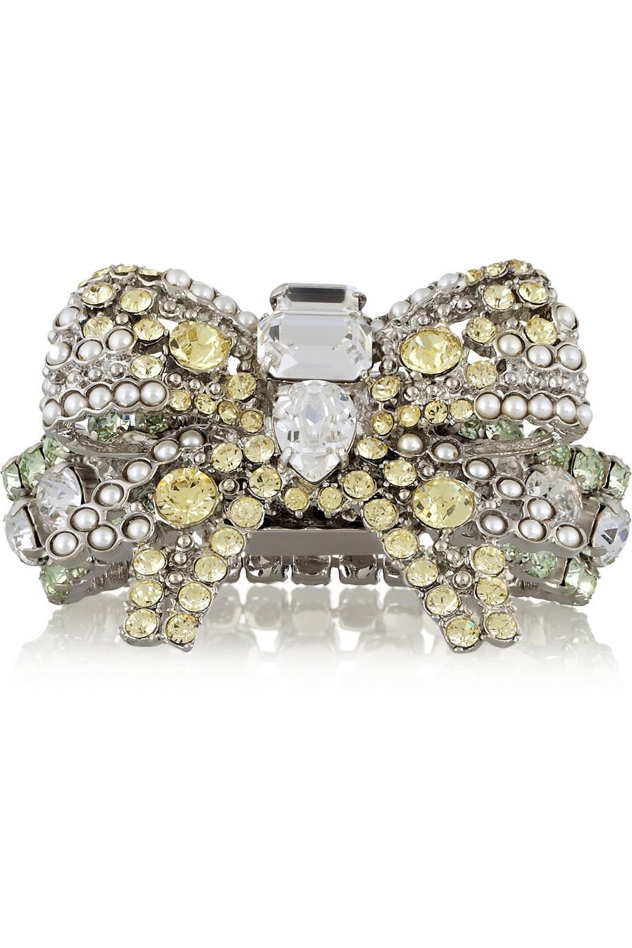 Embellished silver bracelet Miu Miu ZQfFne8QZU