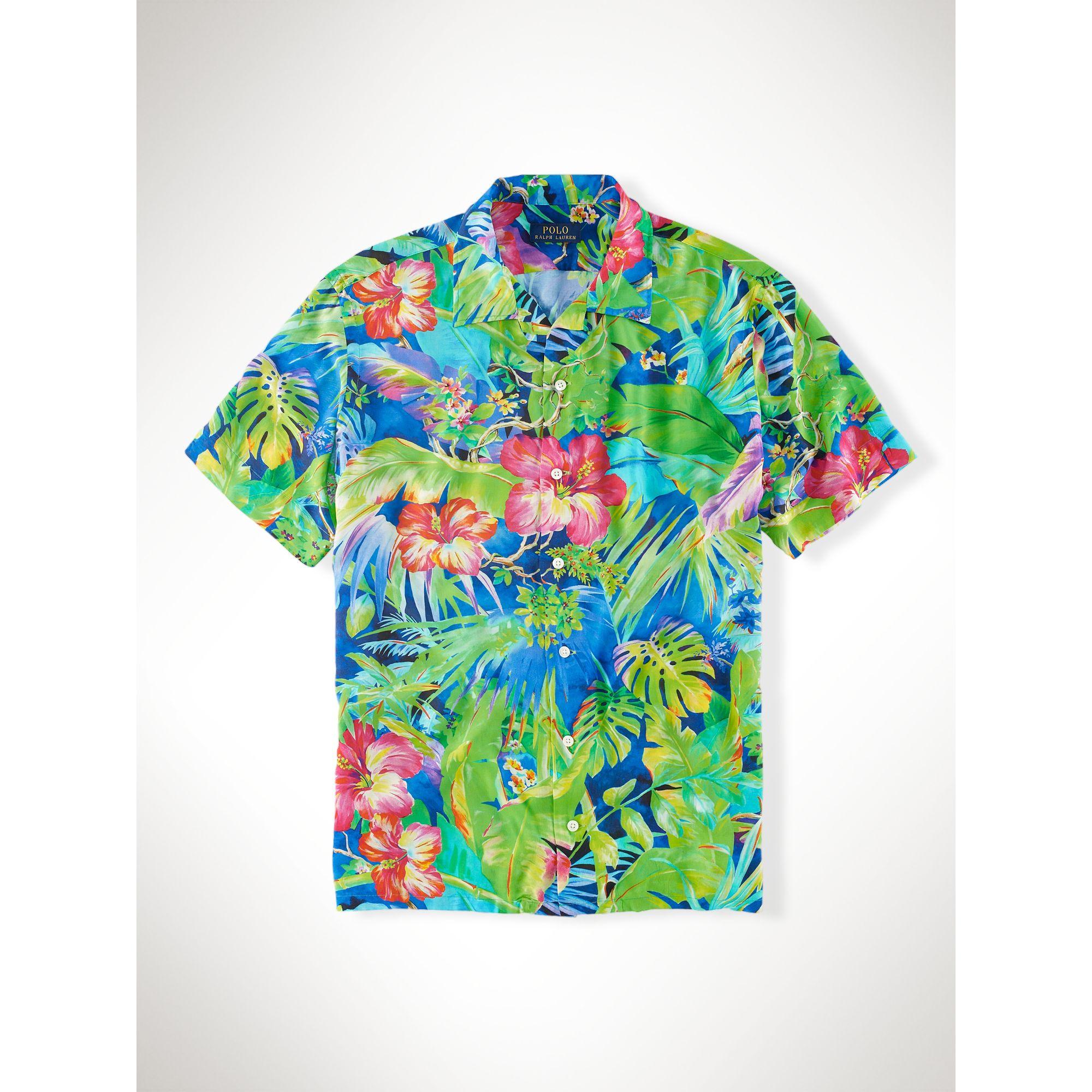 d159424848f83 Lyst - Polo Ralph Lauren Floral-Print Camp Shirt for Men
