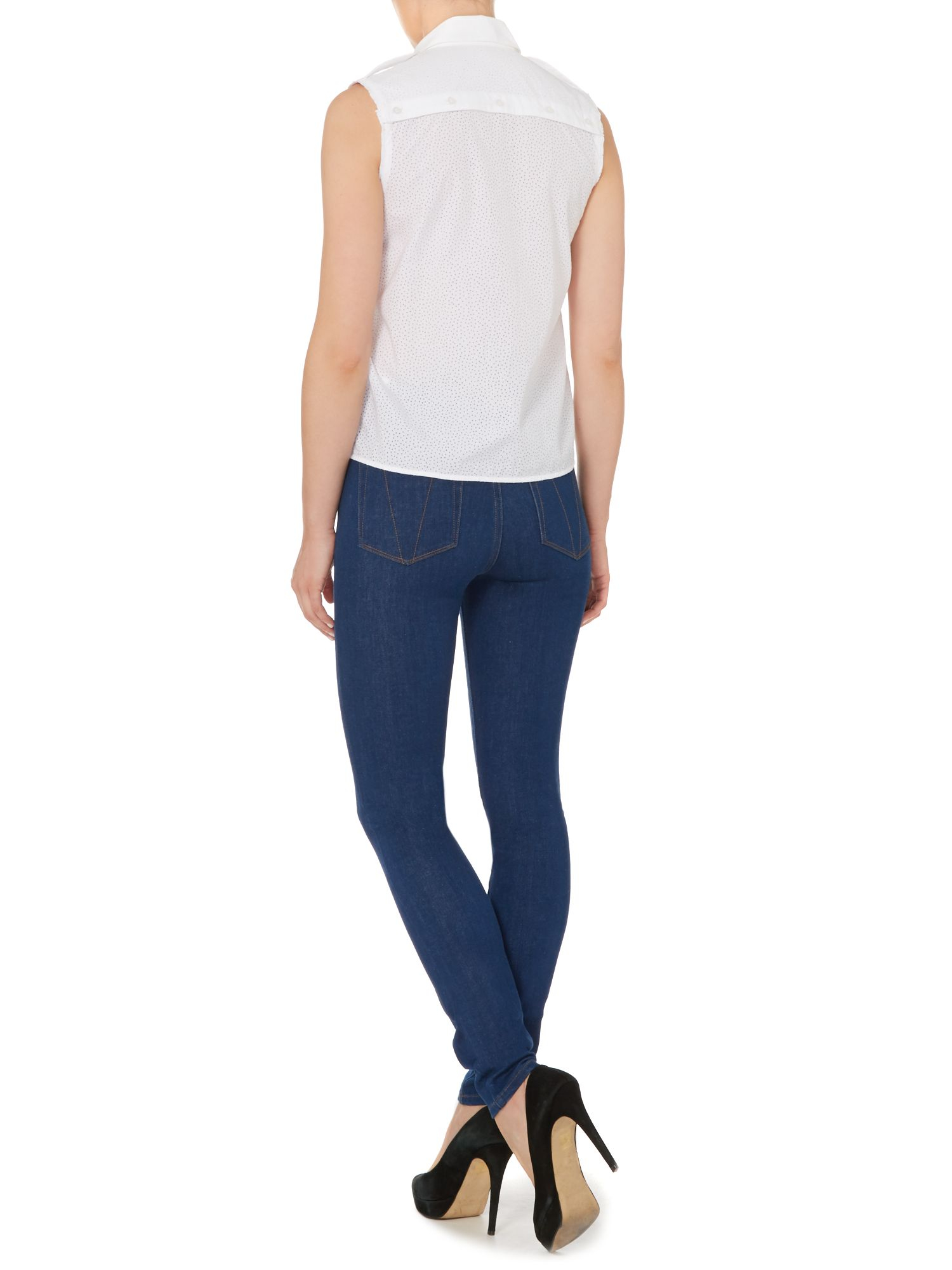 lyst victoria beckham powerhigh skinny jeans in blue 17 in blue. Black Bedroom Furniture Sets. Home Design Ideas