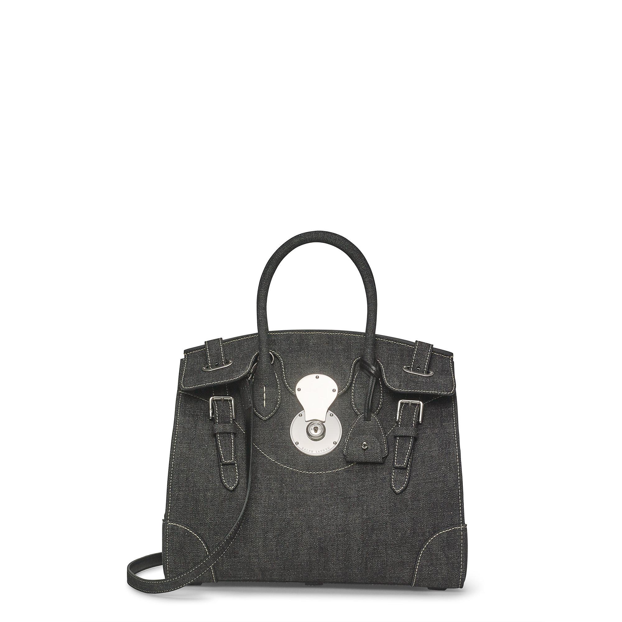 Lyst - Ralph Lauren Denim Ricky 33 Bag in Black 3d5145de66