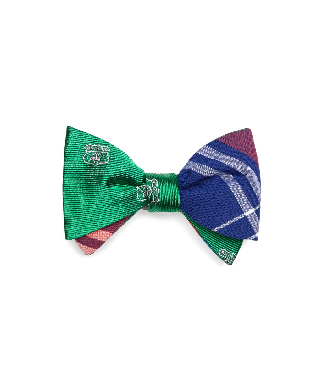 Lyst - Brooks Brothers Crest And Madras Reversible Bow Tie ...