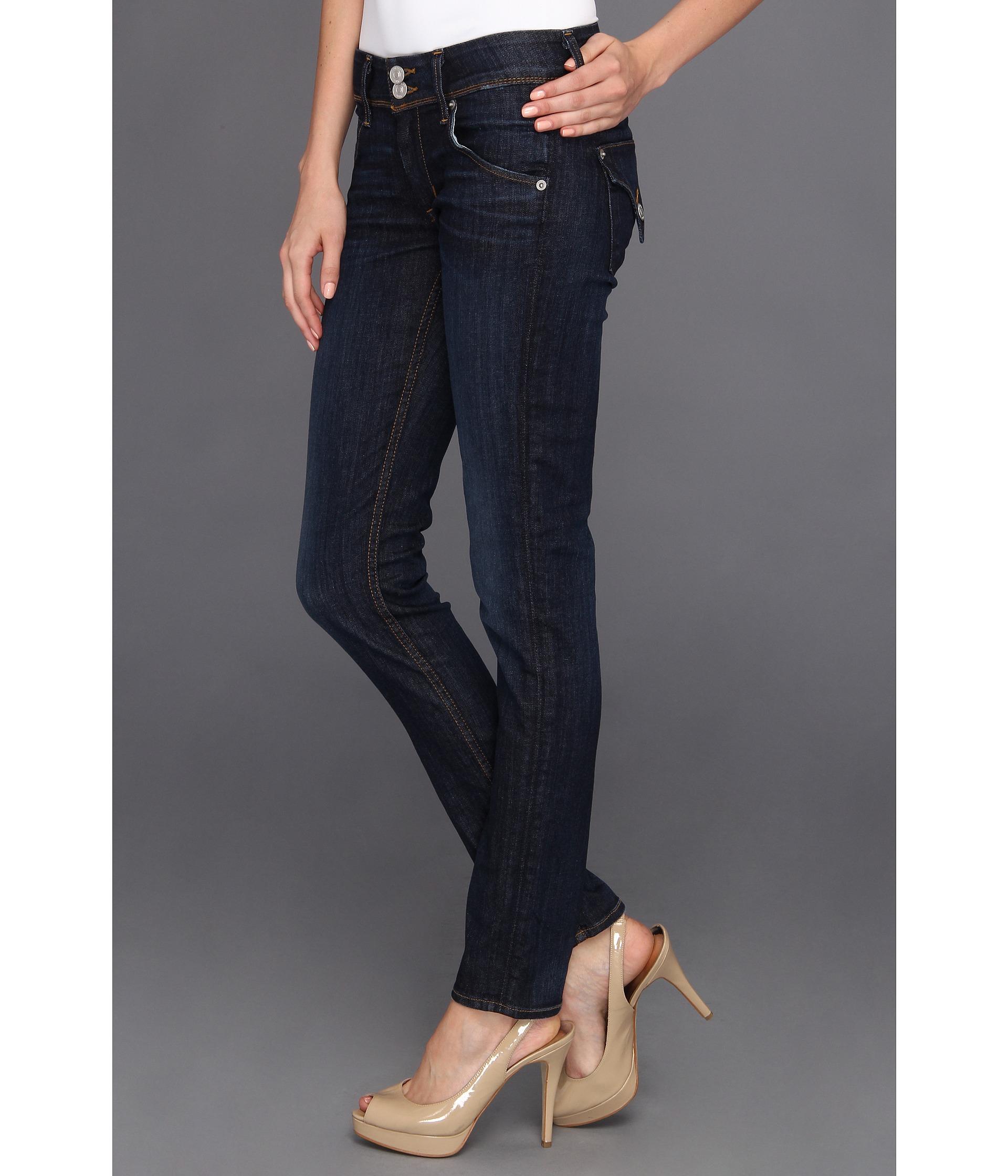03edf98db45 Hudson Jeans Collin Midrise Skinny in Abbey in Blue - Lyst