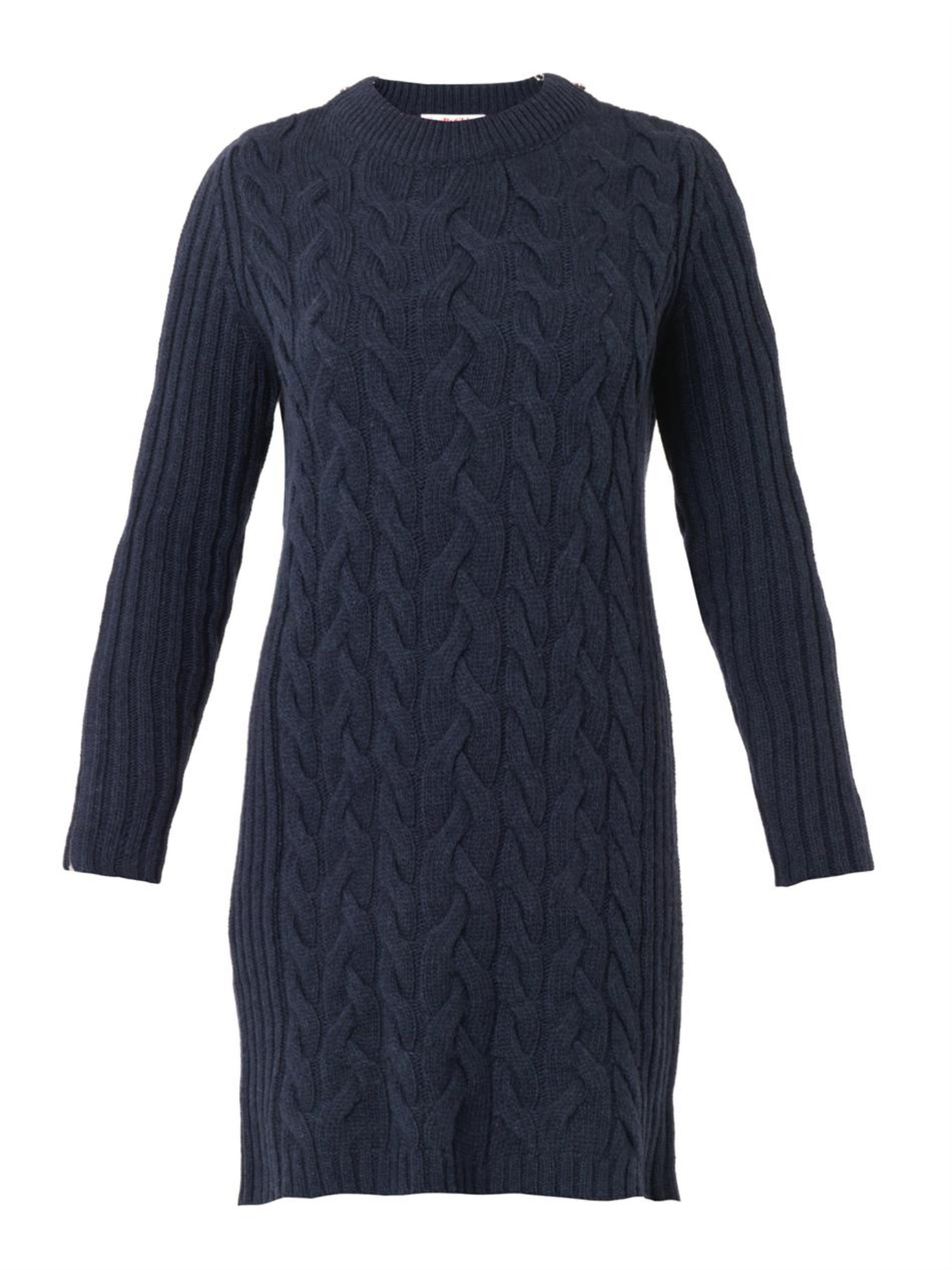 See by chloé Cable-Knit Sweater Dress in Blue | Lyst