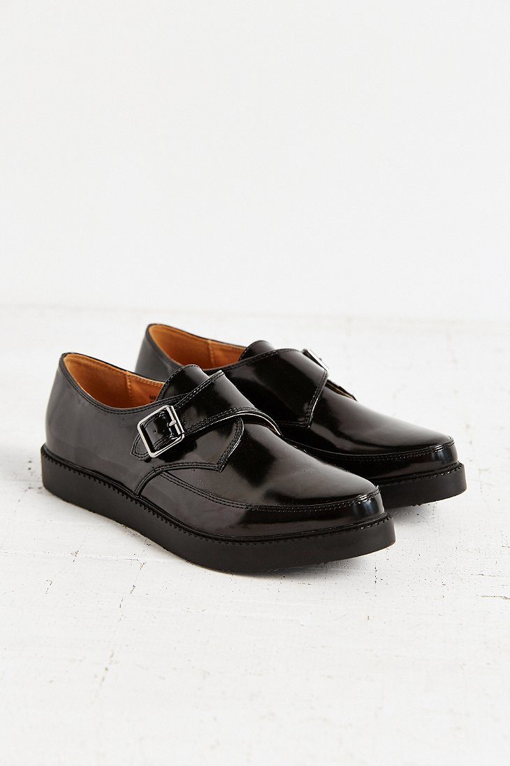 Lyst Urban Outfitters Monk Strap Platform Shoe In Black
