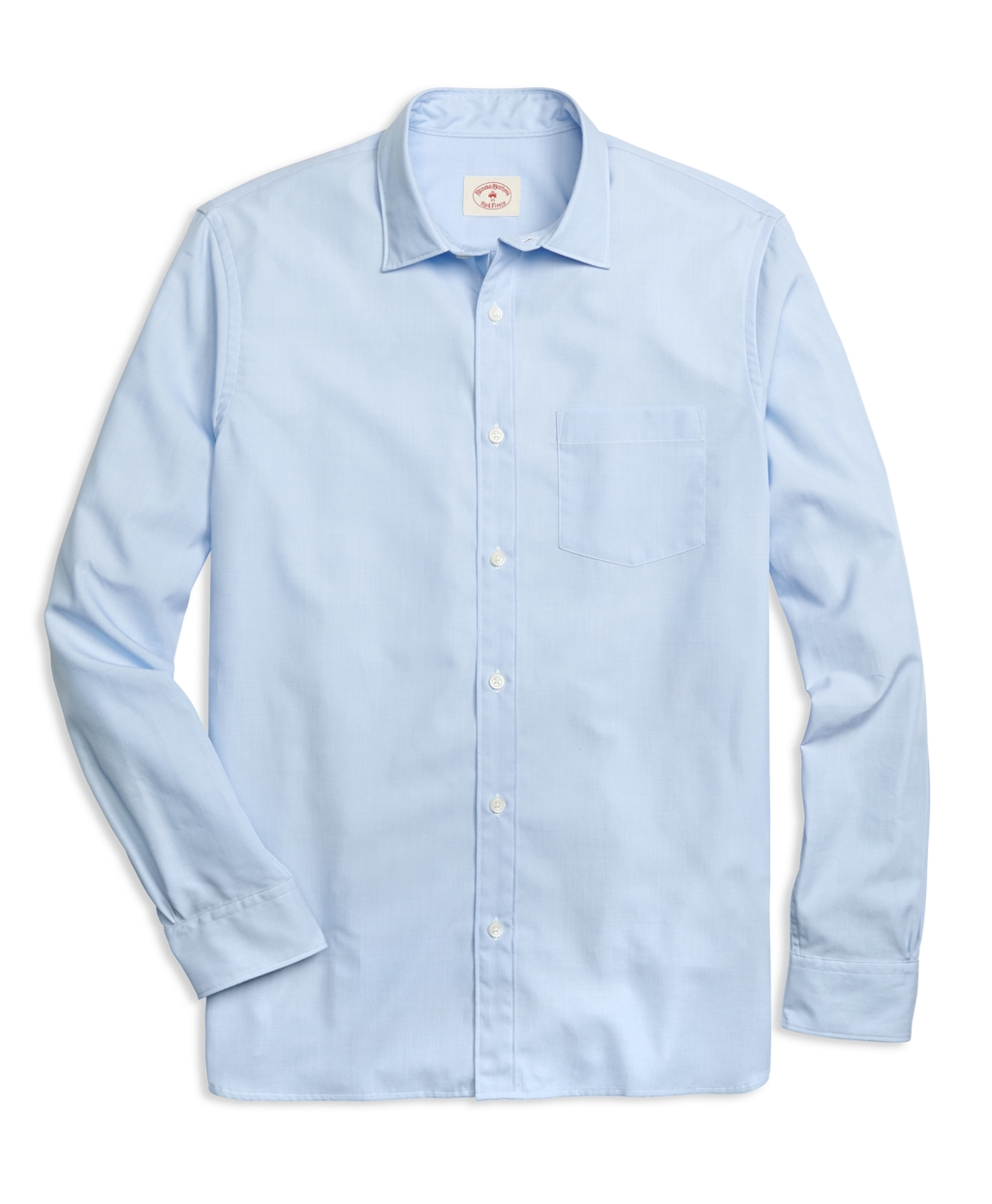 Lyst brooks brothers spread collar sport shirt in blue for Men s spread collar shirts