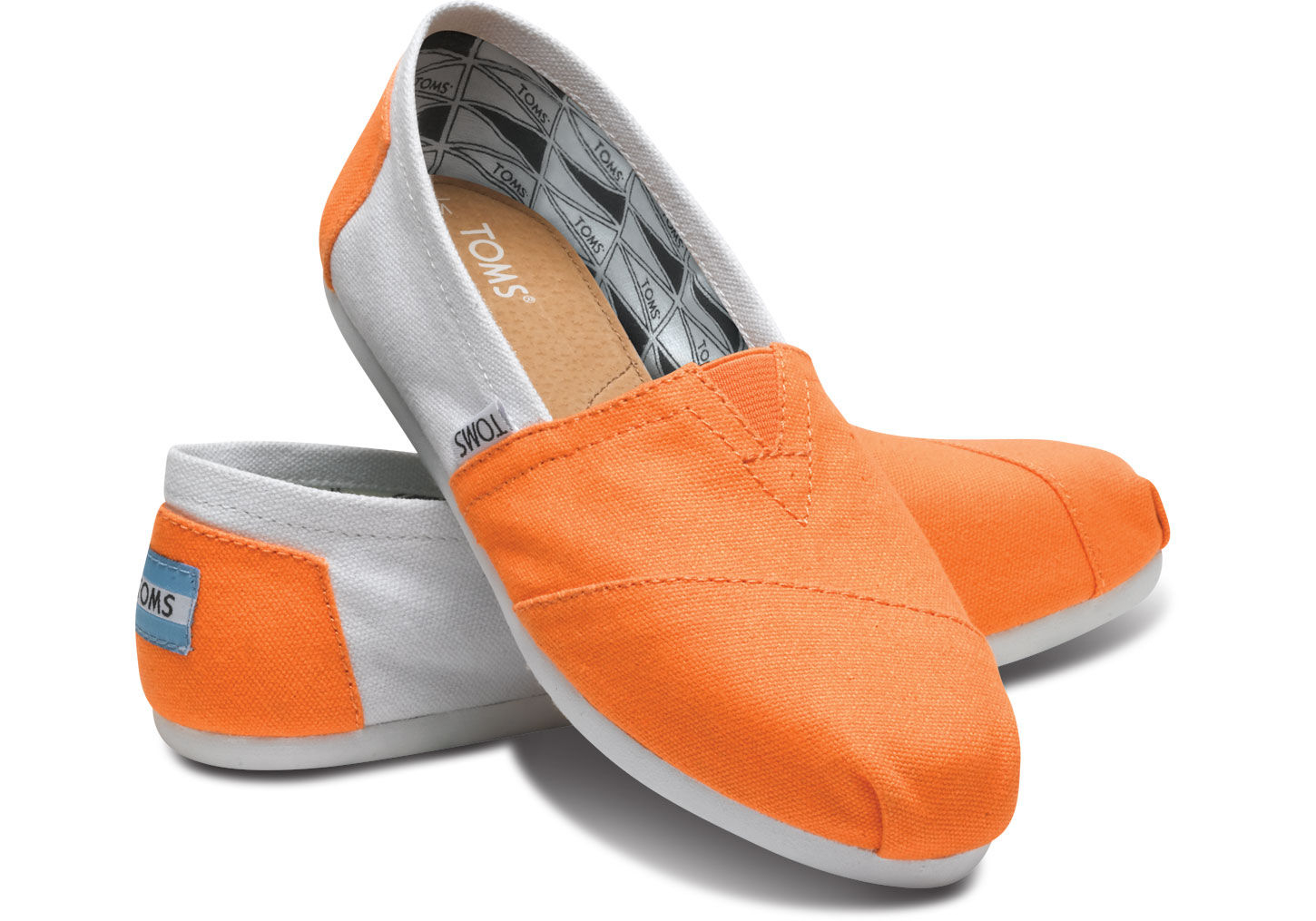 toms womens campus classics in orange lyst. Black Bedroom Furniture Sets. Home Design Ideas