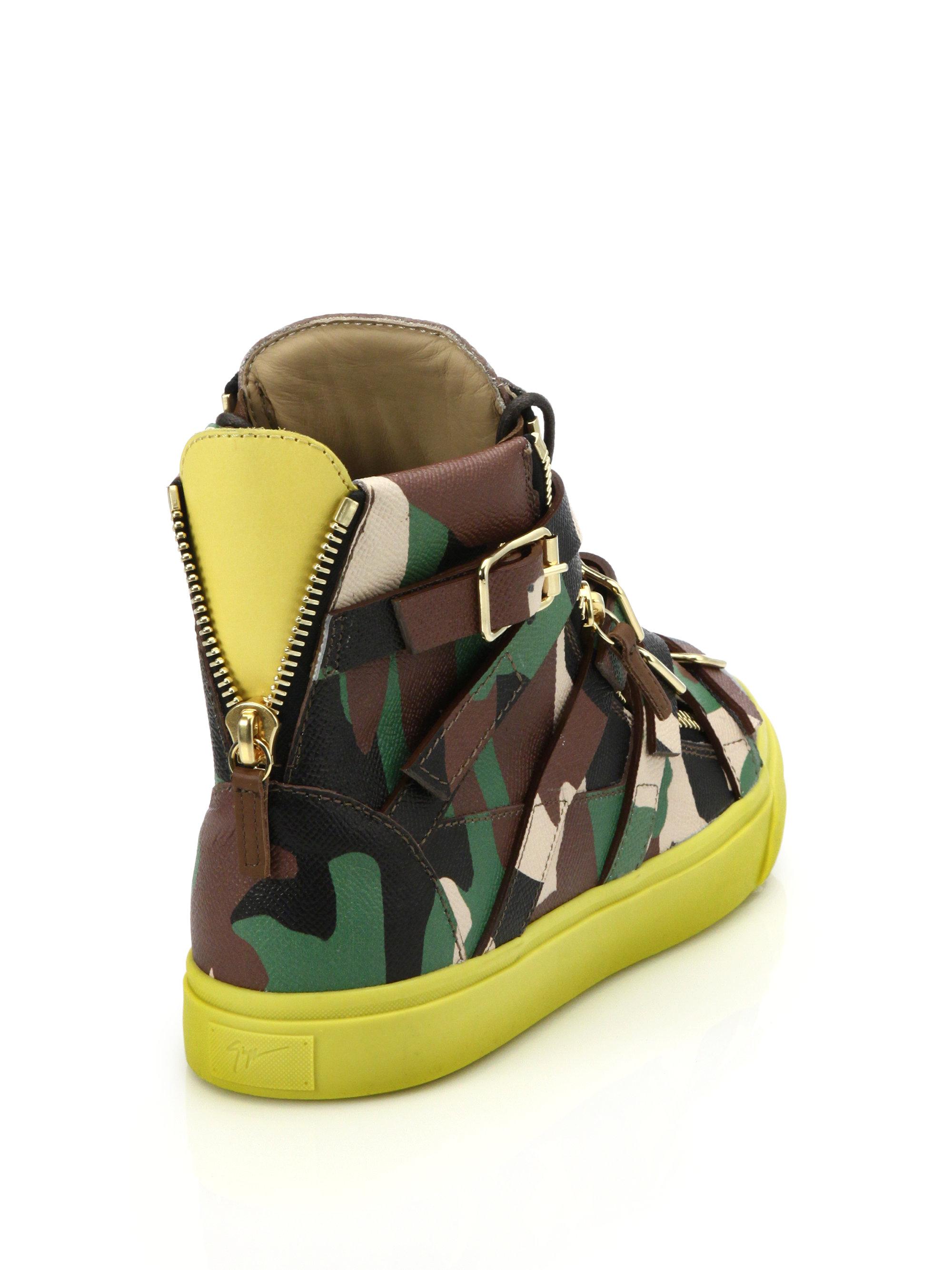 camouflage print sneakers - Black Giuseppe Zanotti aXwmiEF