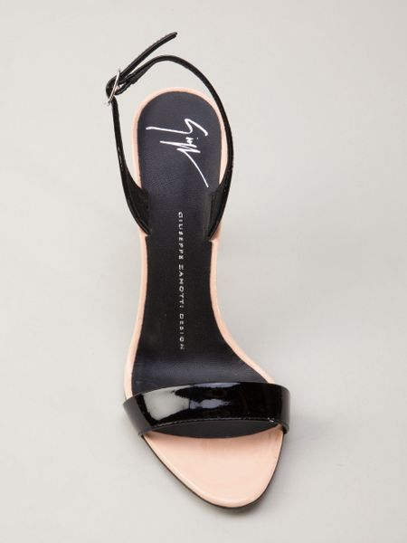 Where Can I Buy Giuseppe Zanotti Slingbacks - Shoes Giuseppe Zanotti Patent Strap Sandals Nude Neutrals