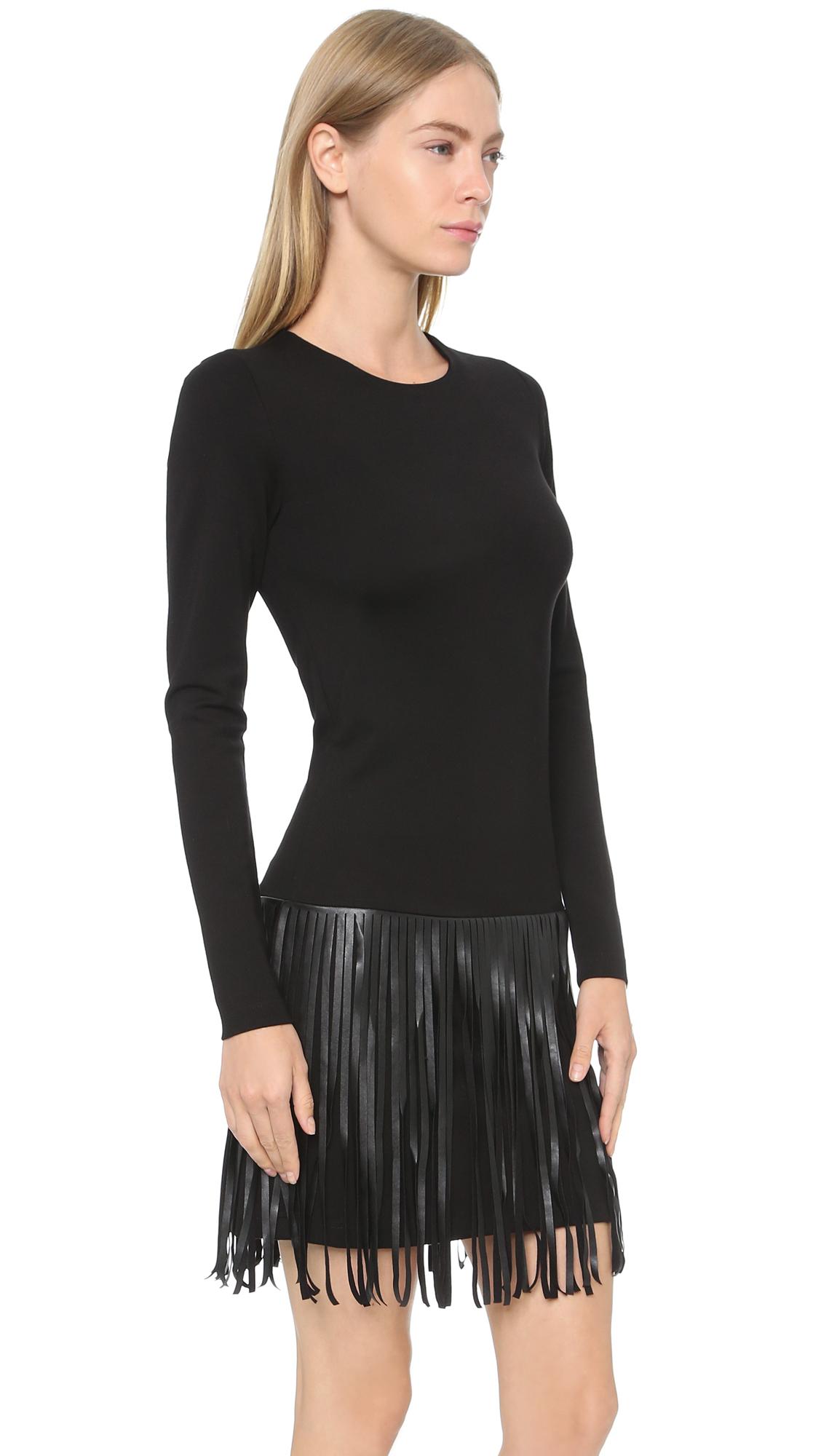 Amanda Uprichard Colt Dress Black In Black Lyst