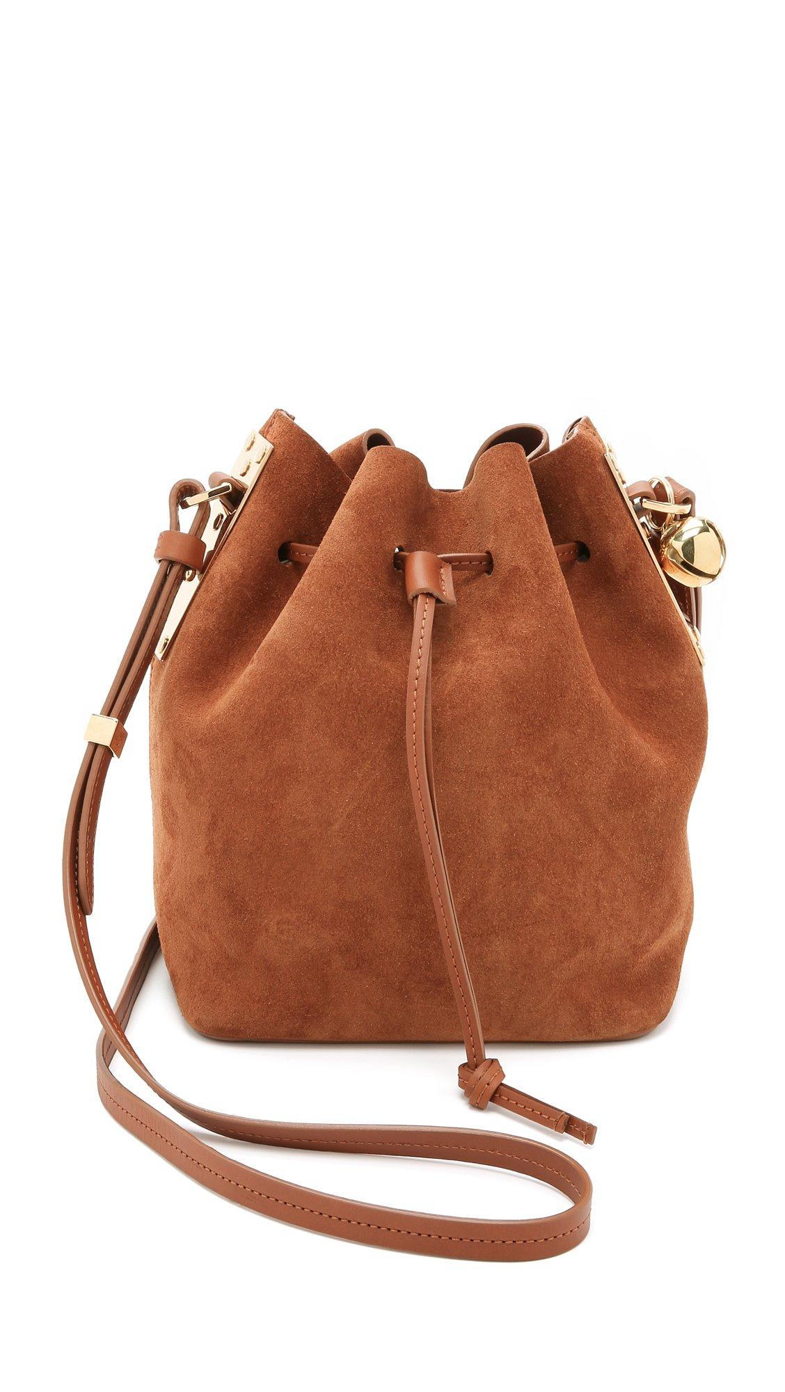 Sophie hulme Small Drawstring Bucket Bag - Tan in Brown   Lyst