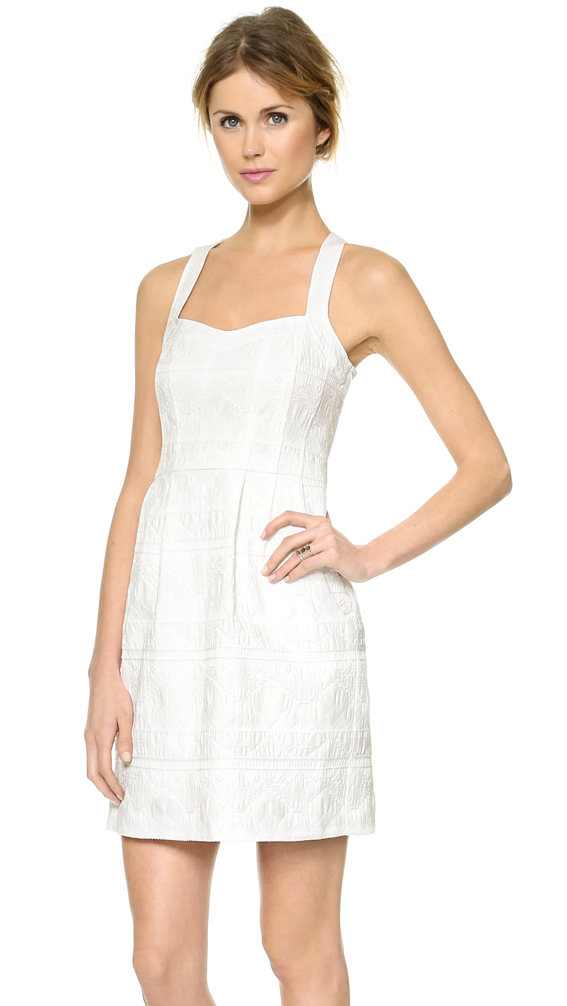 Lyst Nanette Lepore Sizzling Dress White In White