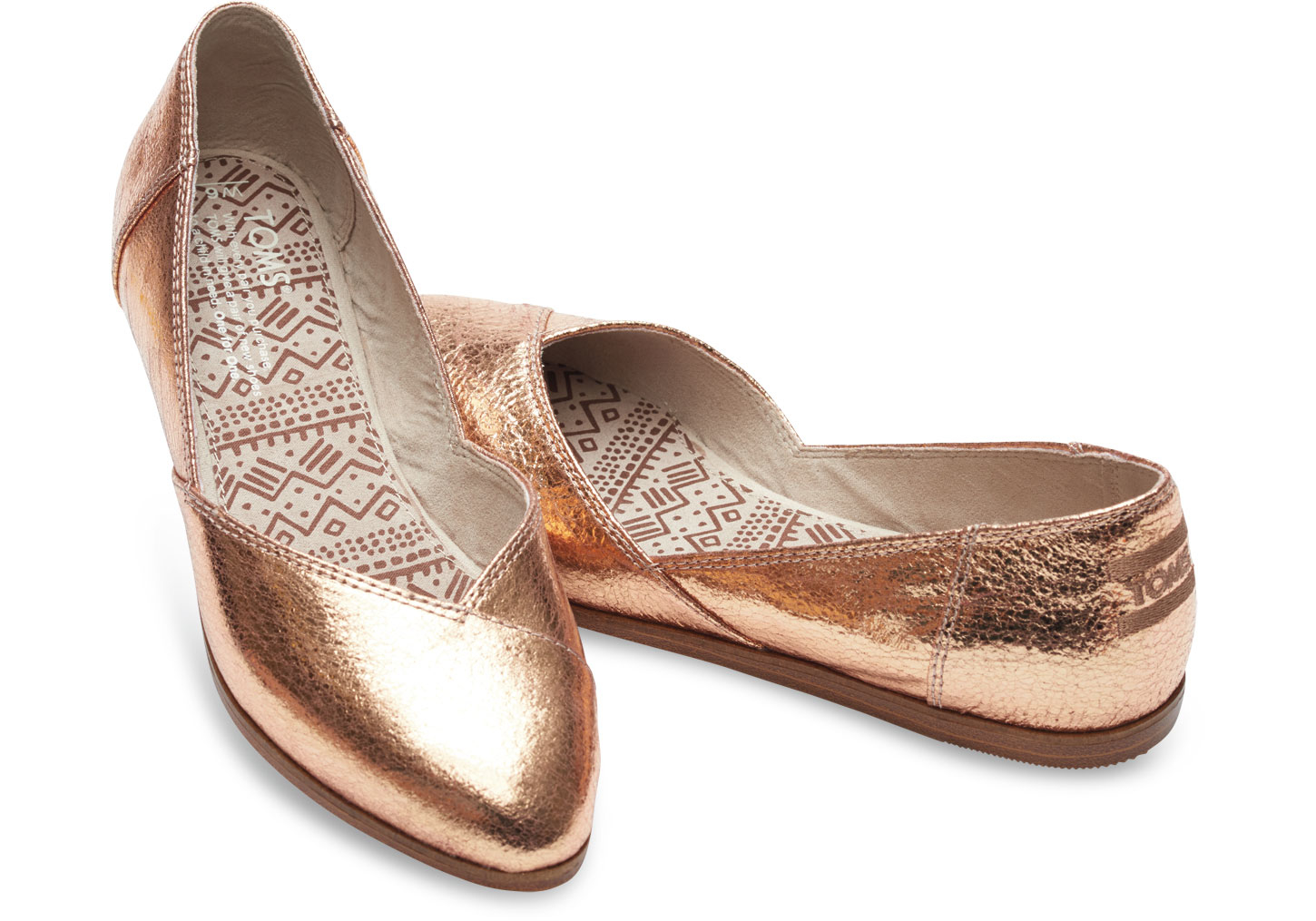 Toms Gold Glitter Womens Shoes
