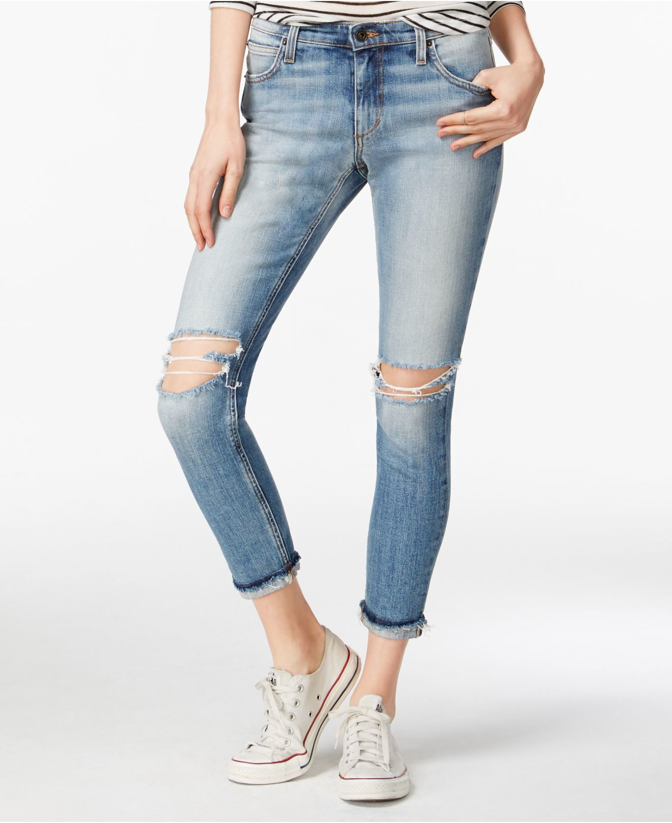 Joe&39s jeans Joe&39s The Billie Ripped Ankle Blakeley Wash Jeans in