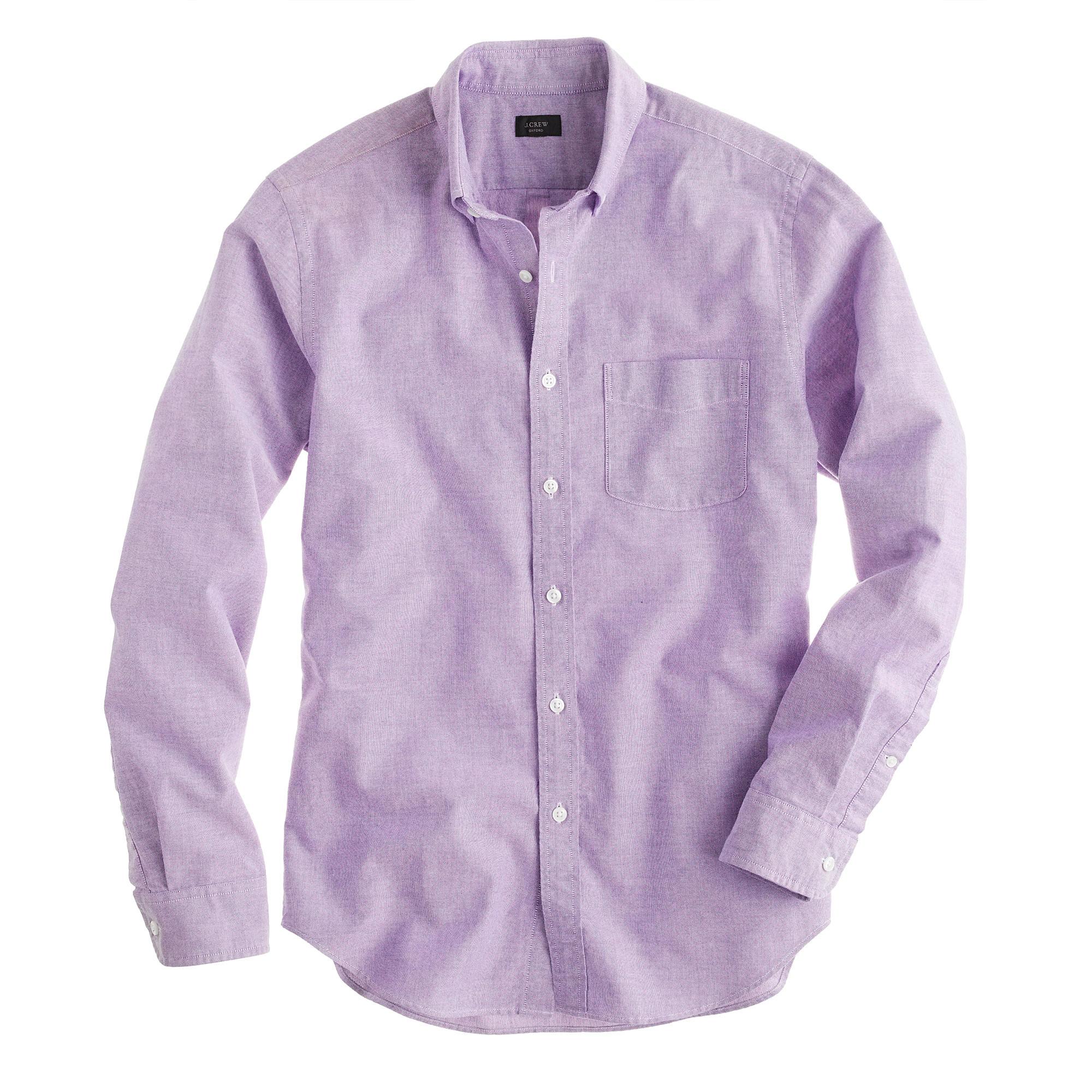 Slim Vintage Oxford Shirt In Purple For Men Lyst