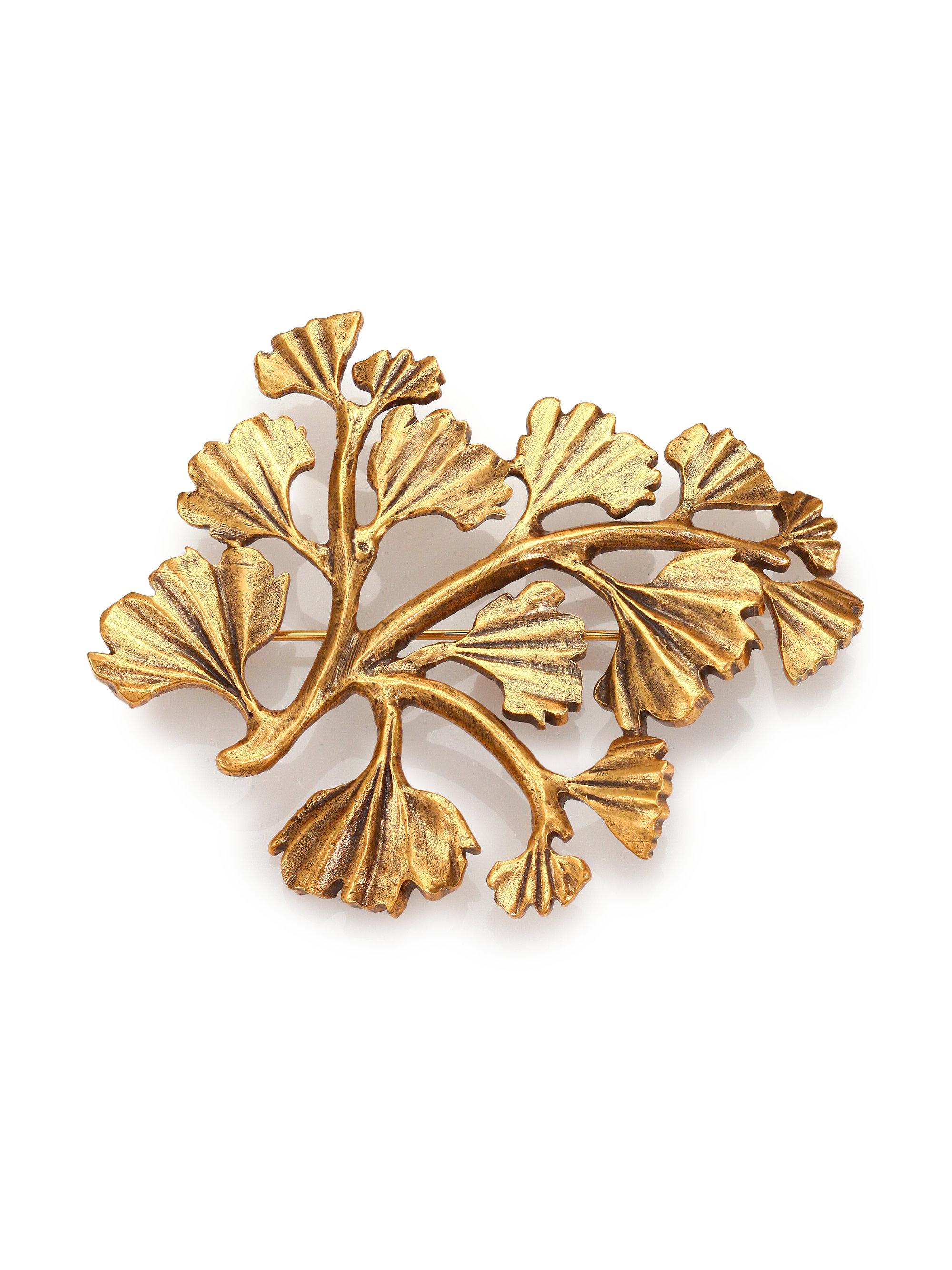 Oscar De La Renta Coral Branch Crystal Brooch 3fI4oZ
