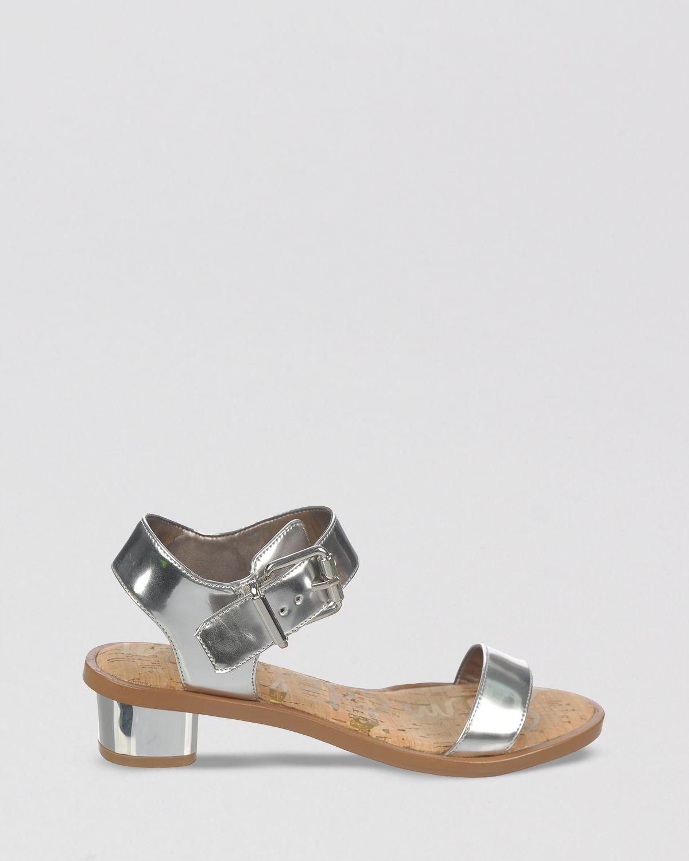 b20fd0b52 Lyst - Sam Edelman Open Toe Sandals Trina Block Heel in Gray