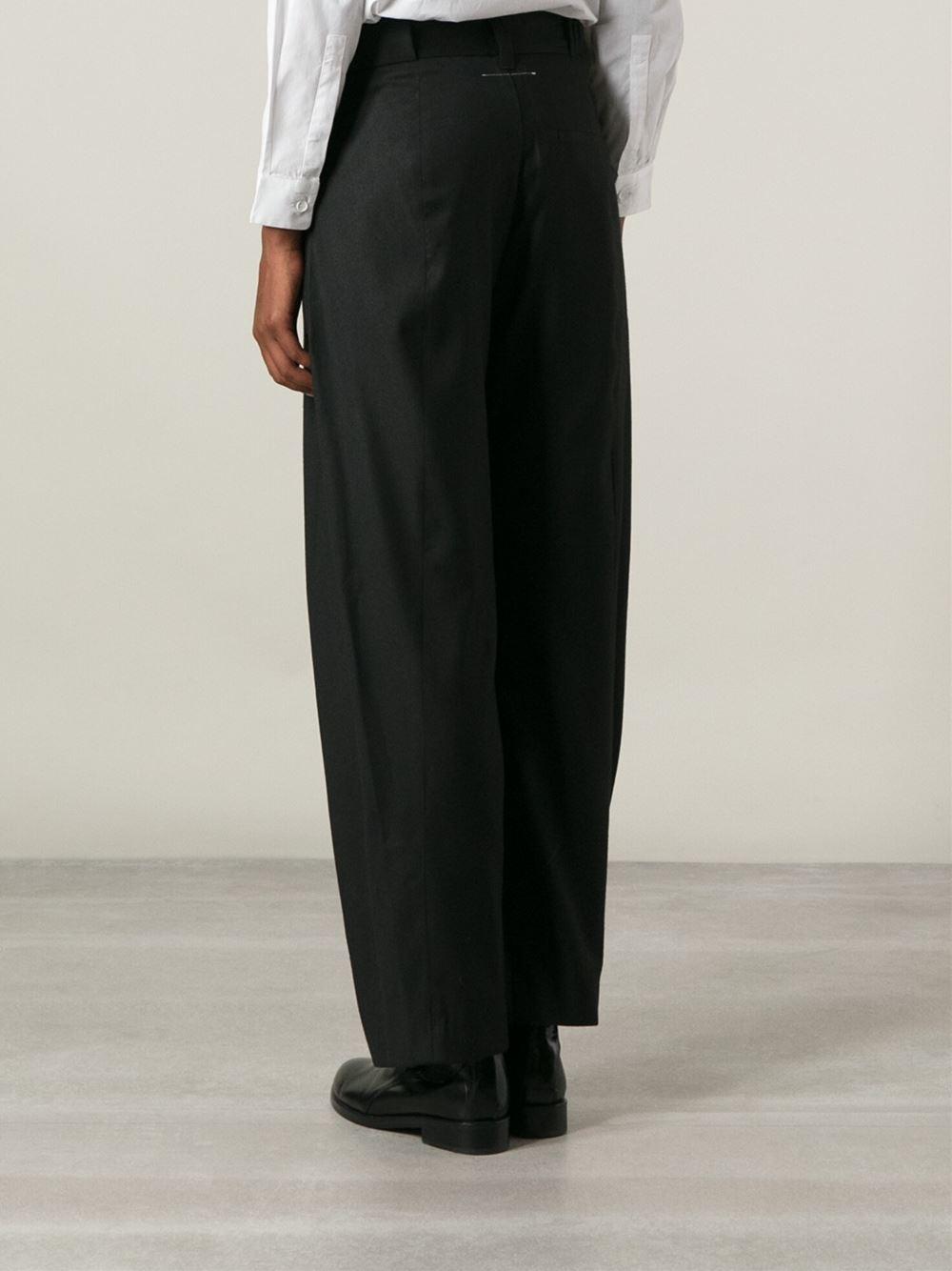 pleated straight leg trousers - Black Maison Martin Margiela ft4ZV66