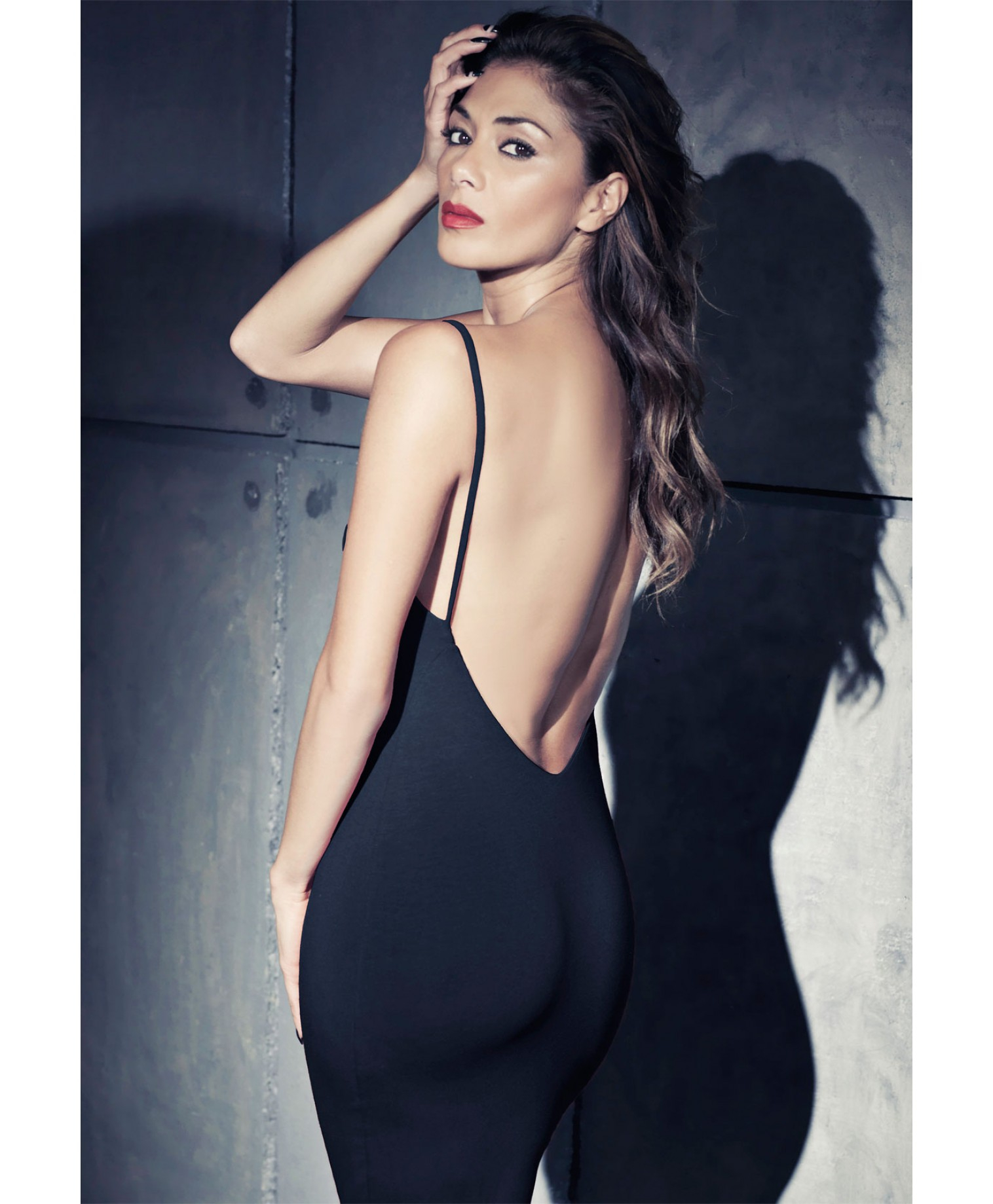 Images of Low Back Black Dress - Reikian