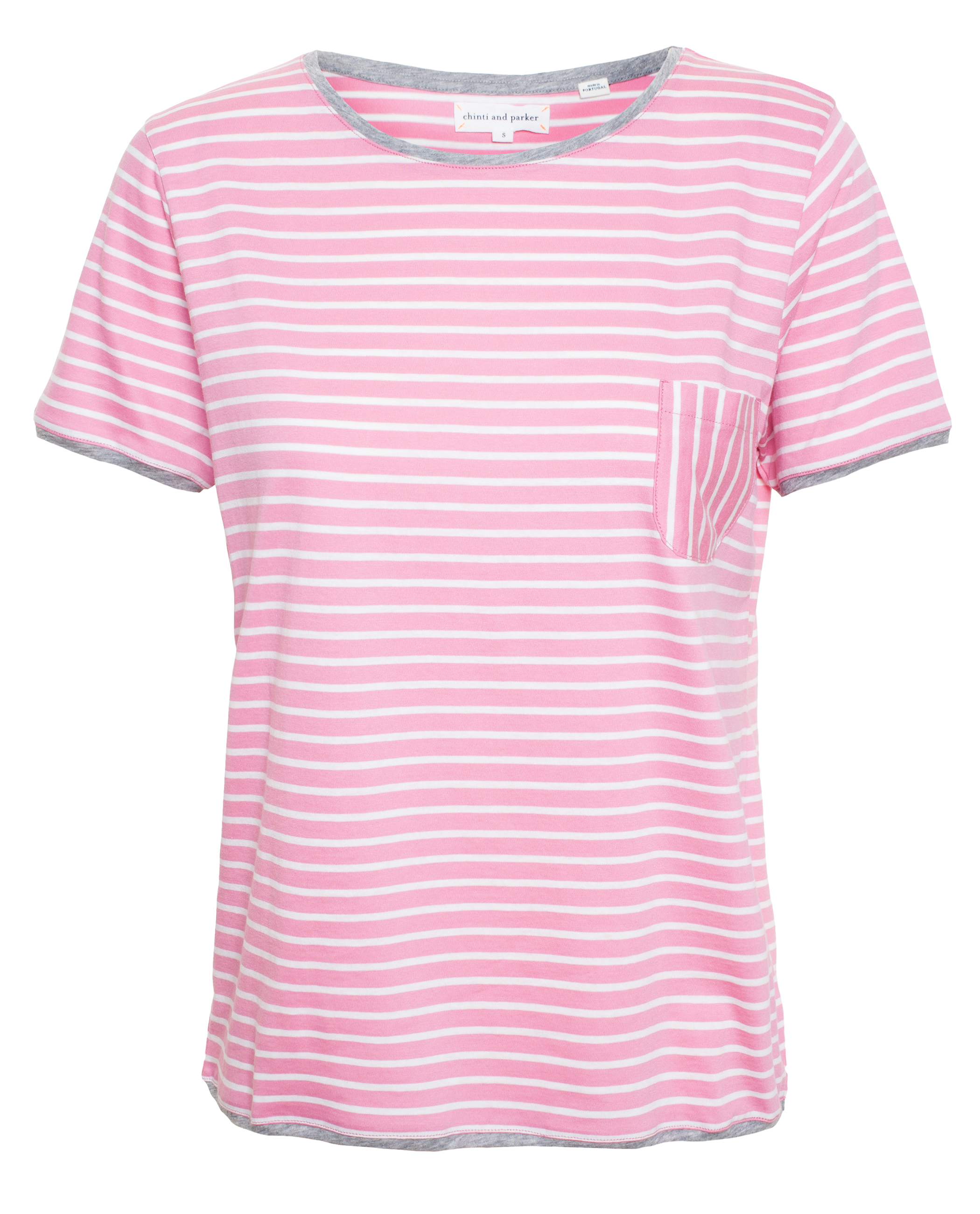 Chinti parker striped t shirt in pink lyst for Pink white striped shirt