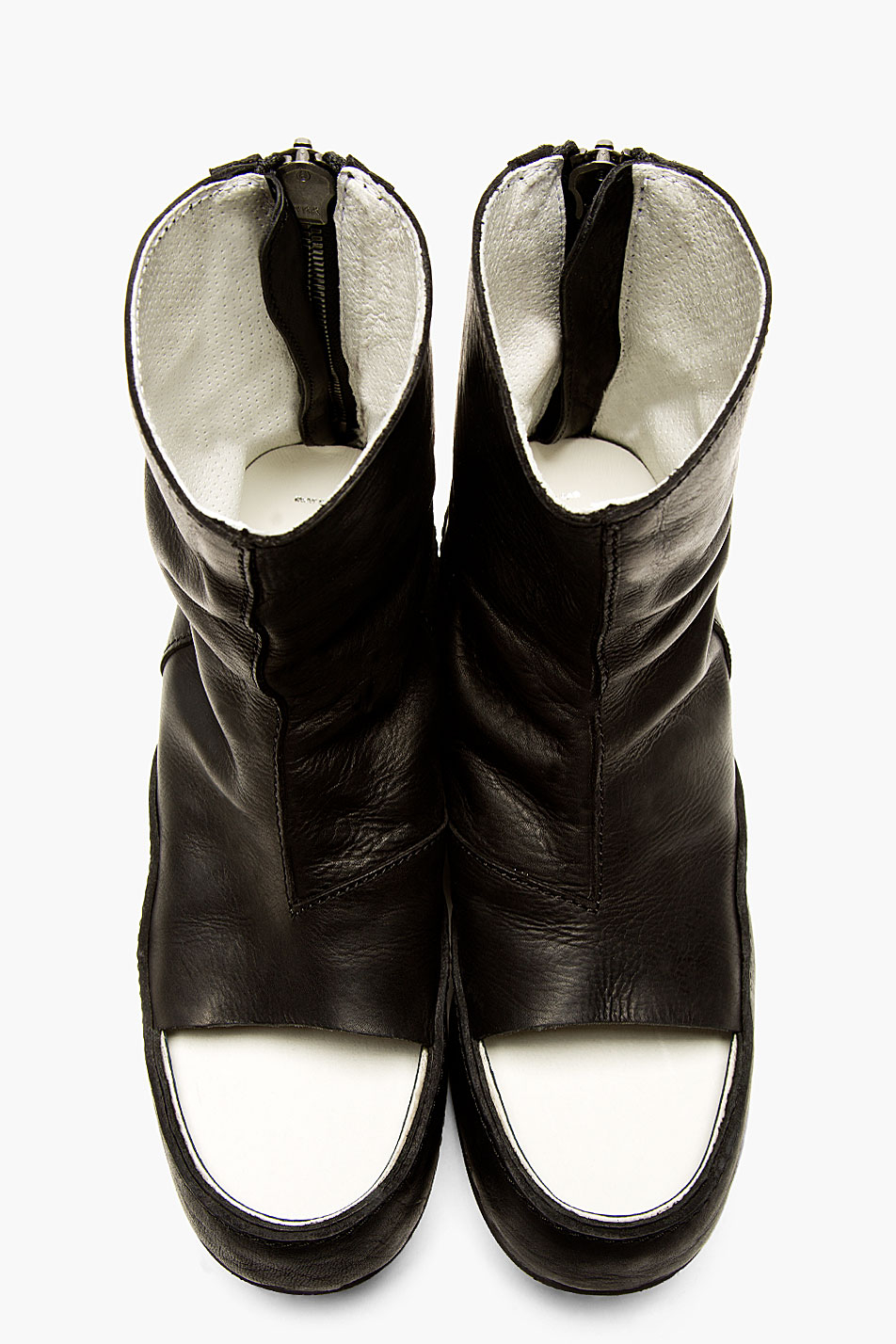 Julius Black Leather Open Toe Boots In Black For Men Lyst