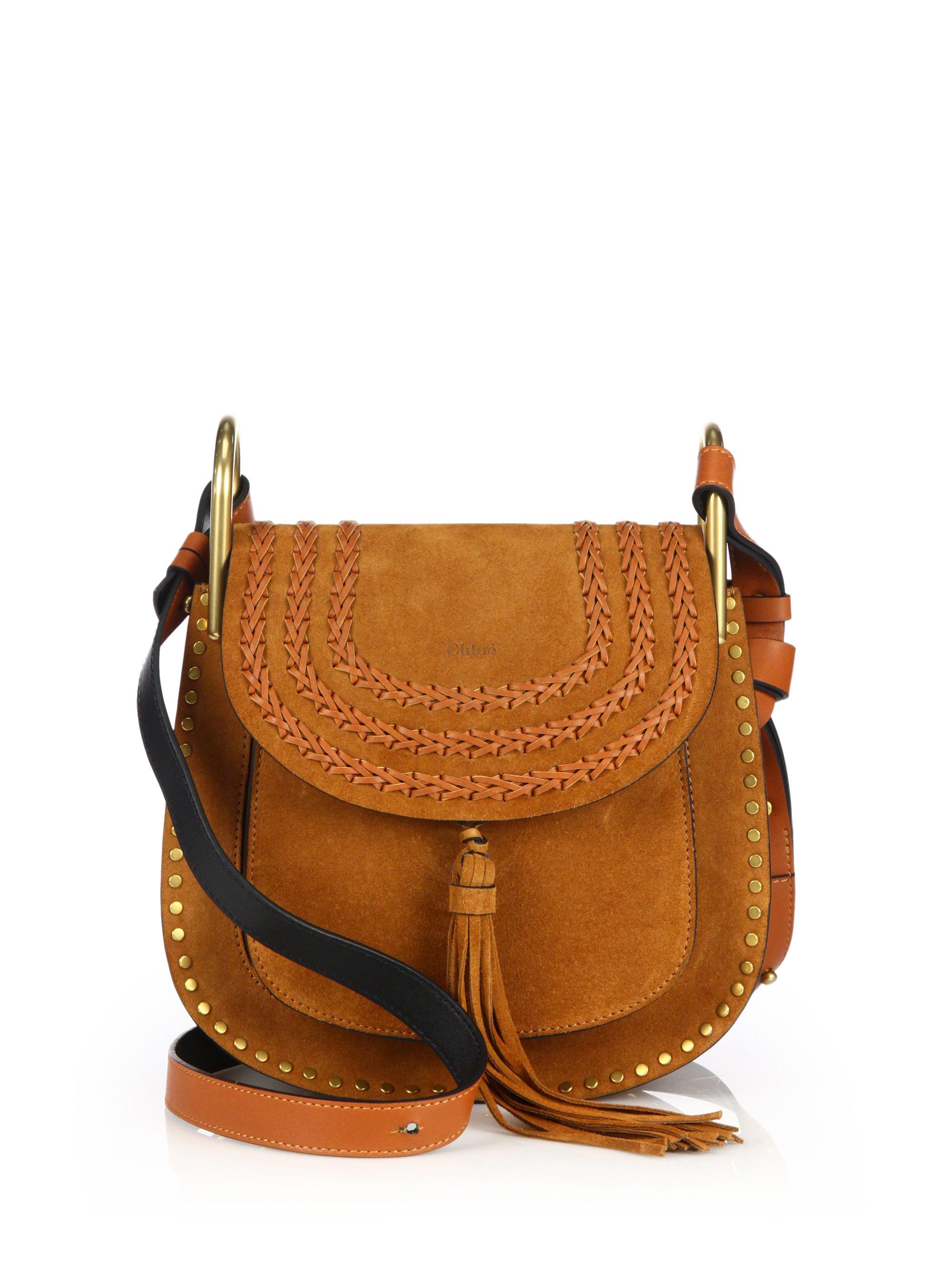 Chlo�� Hudson Small Suede Shoulder Bag in Khaki | Lyst