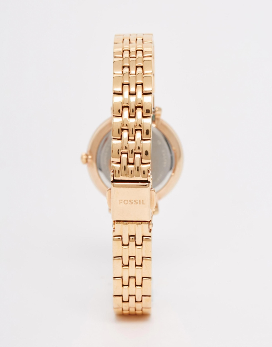 lyst fossil rose gold tailor chrono watch. Black Bedroom Furniture Sets. Home Design Ideas