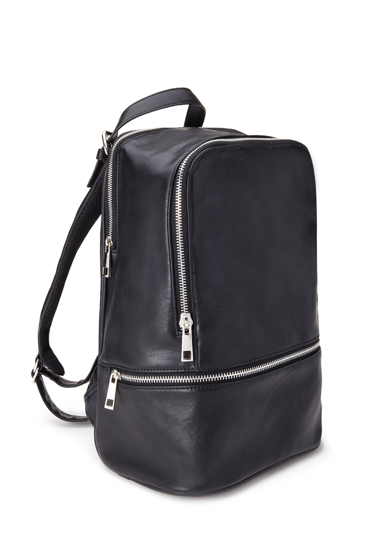 4b8fbe50dd Black Mini Faux Leather Backpack | Building Materials Bargain Center