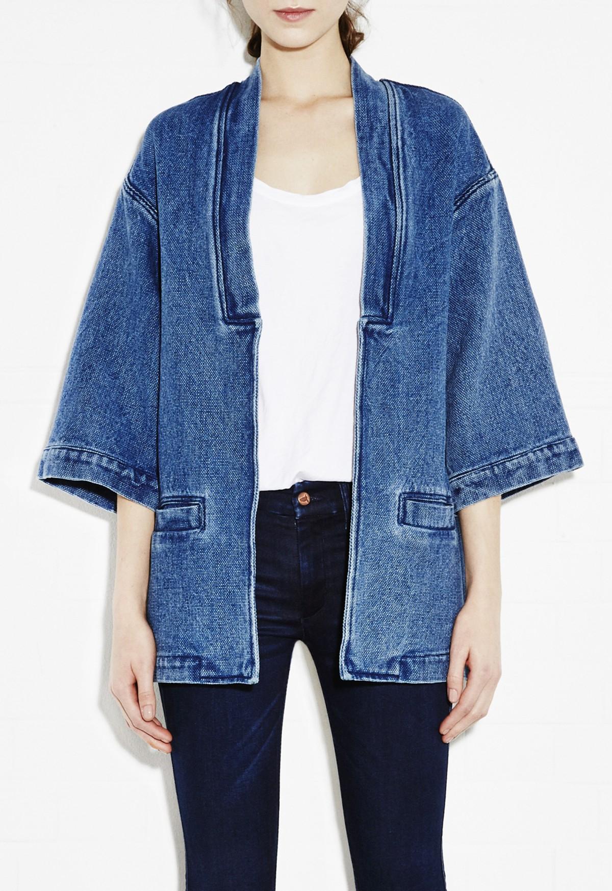 Lyst M I H Jeans Kimono Jacket In Blue
