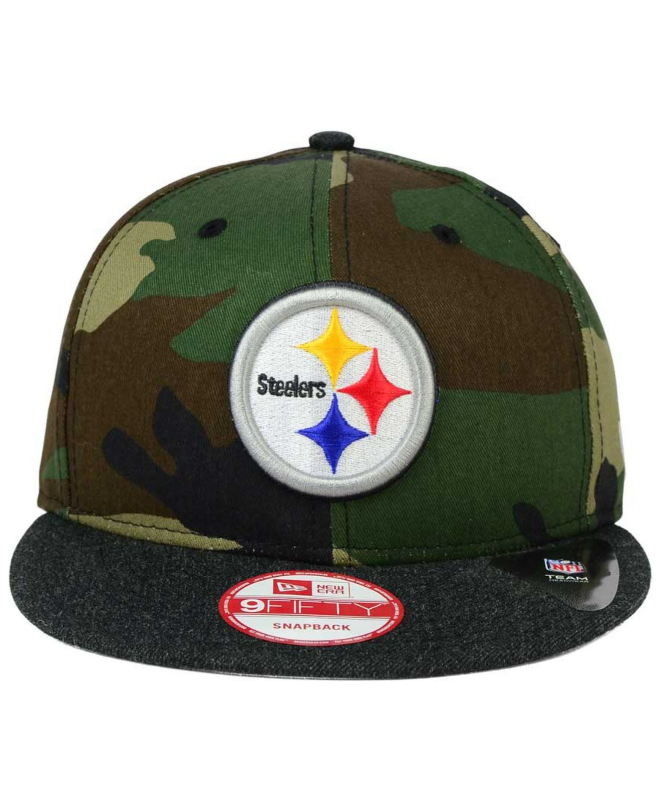 eb90deffa72 Lyst - KTZ Pittsburgh Steelers Camo Heather 9fifty Snapback Cap in ...