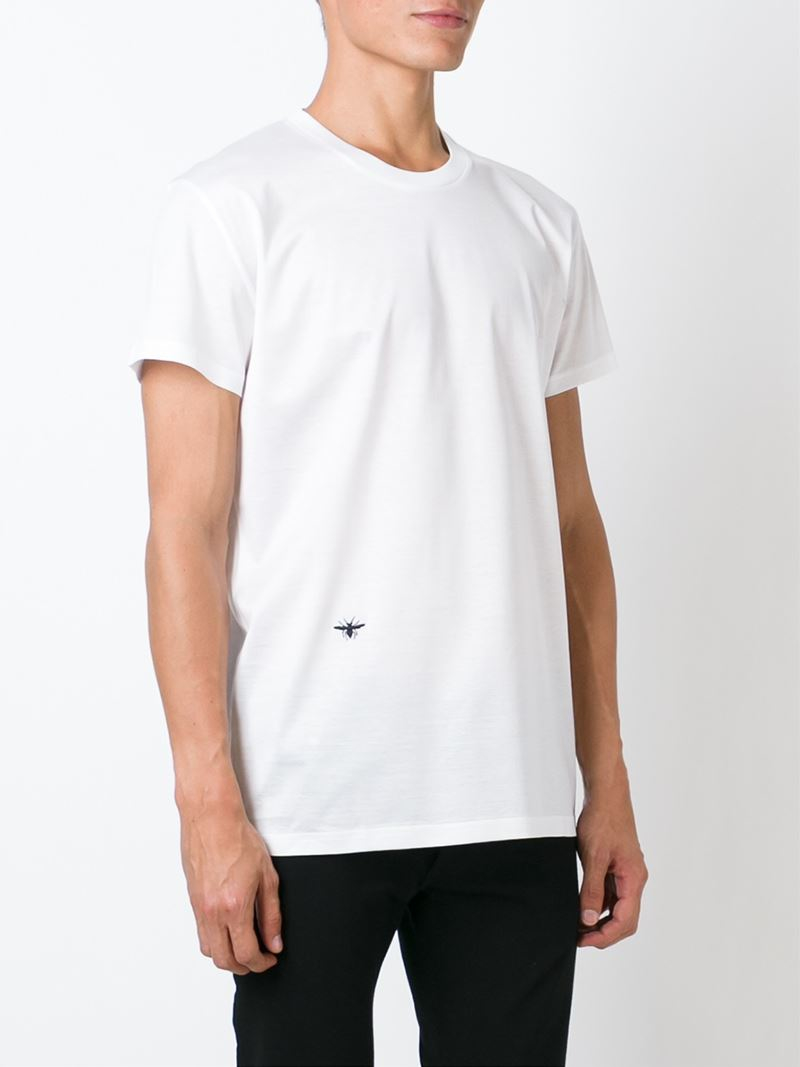 6d27d2e8dc9 Lyst - Dior Homme Insect Embroidery T-shirt in White for Men