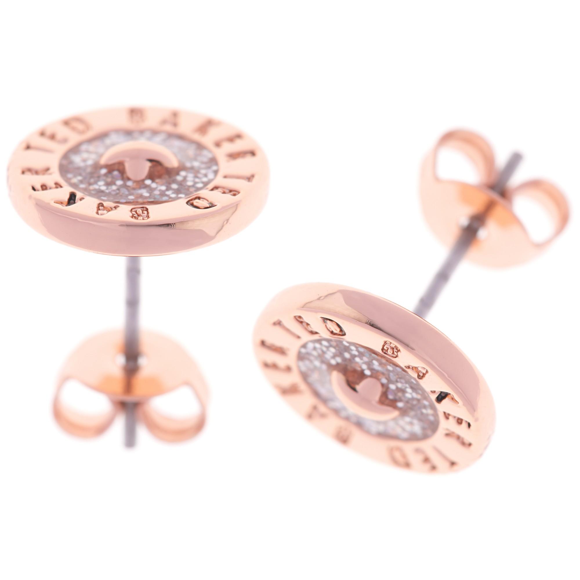 4519de9d9 Ted Baker Tempany Enamel Button Stud Earrings in Pink - Lyst