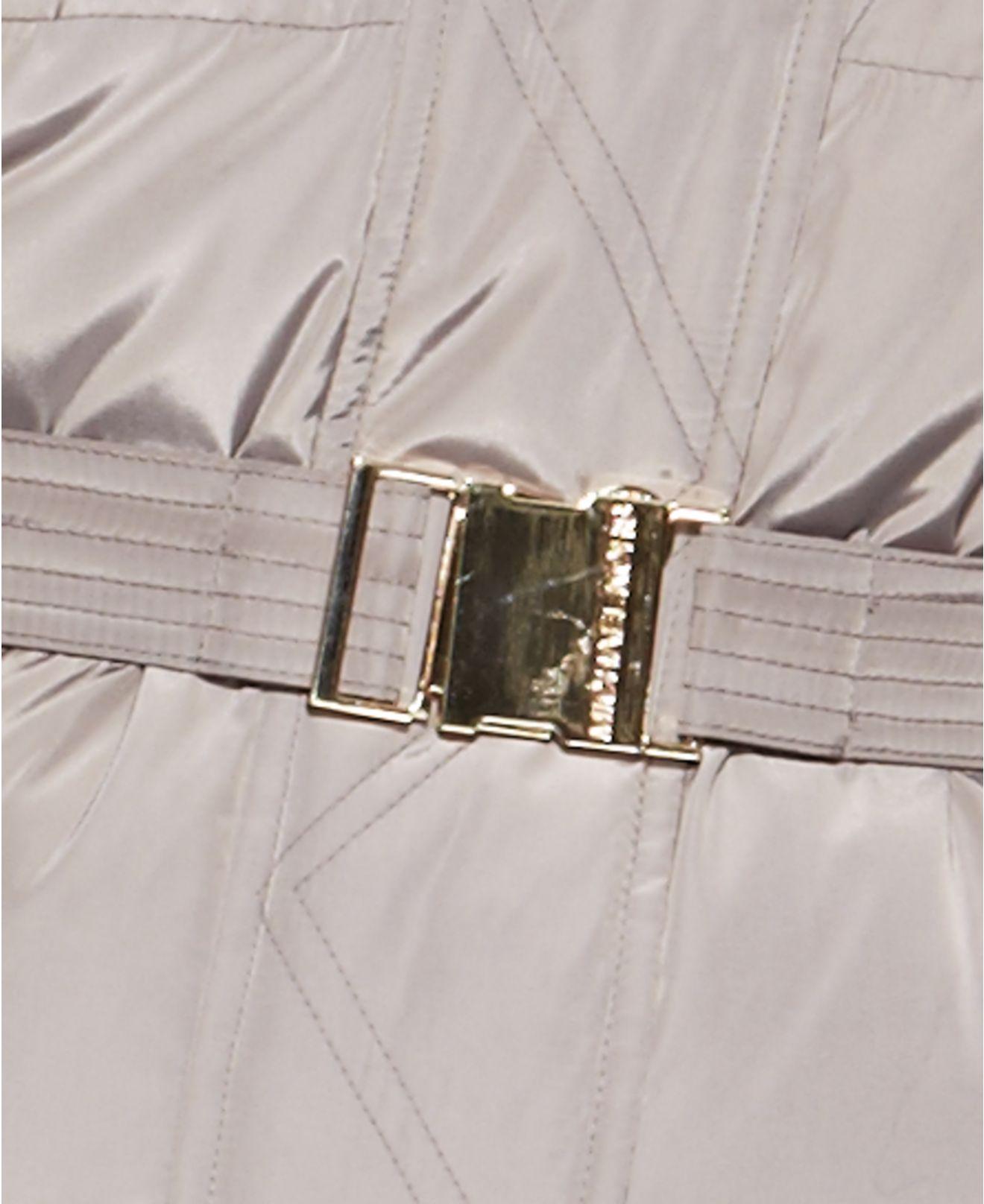 cfdd7e9f4e Michael Kors Michael Plus Size Hooded Faux-Fur-Trim Belted Down Maxi ...
