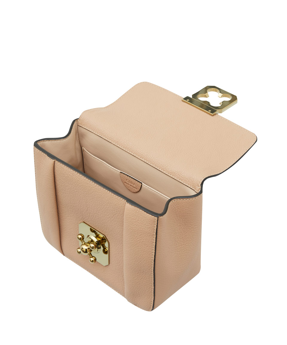 Chlo¨¦ Small Beige Elsie Leather Bag in Beige | Lyst