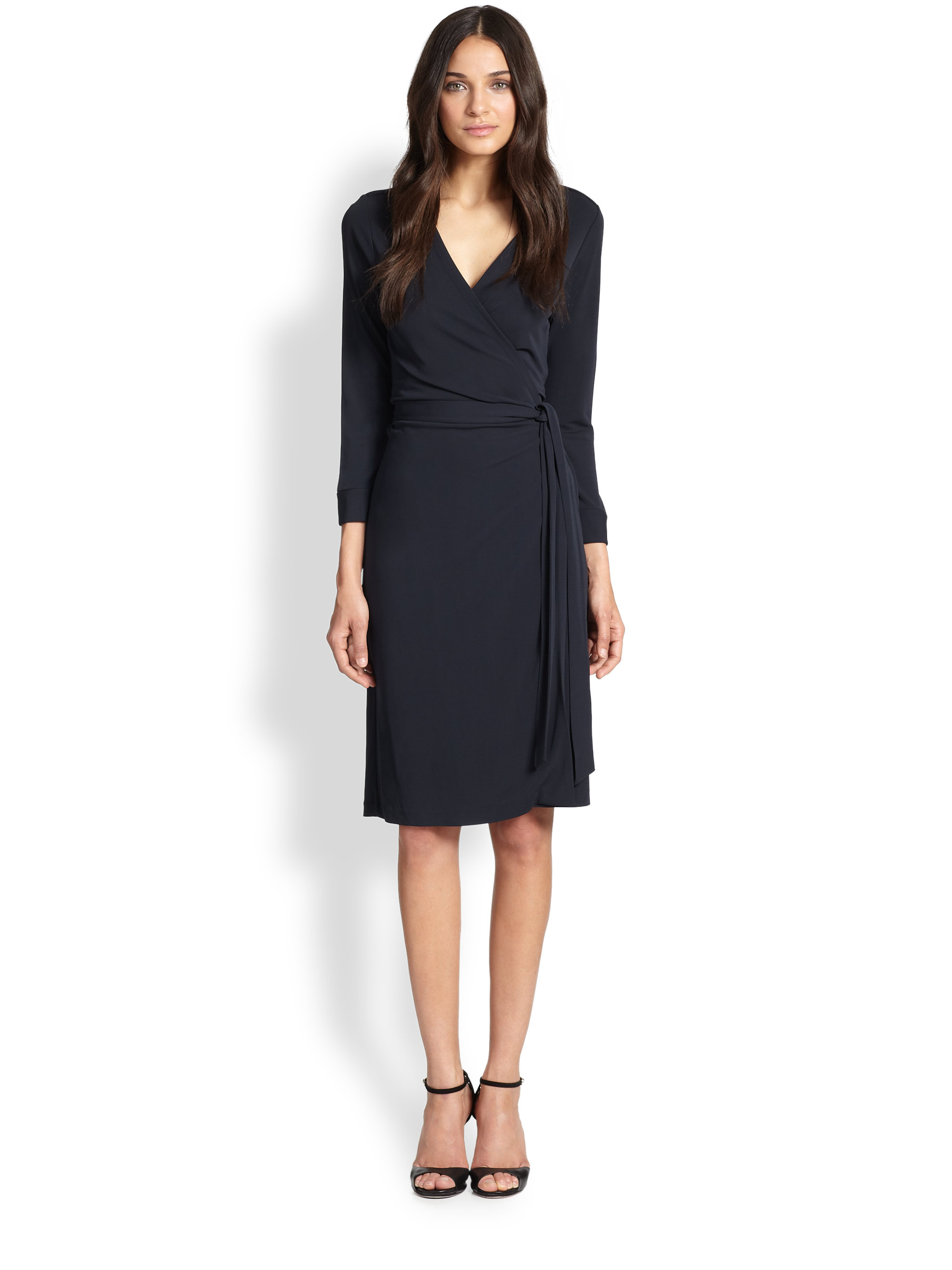 Diane von furstenberg new julian two wrap dress in blue lyst for Diane von furstenberg clothes