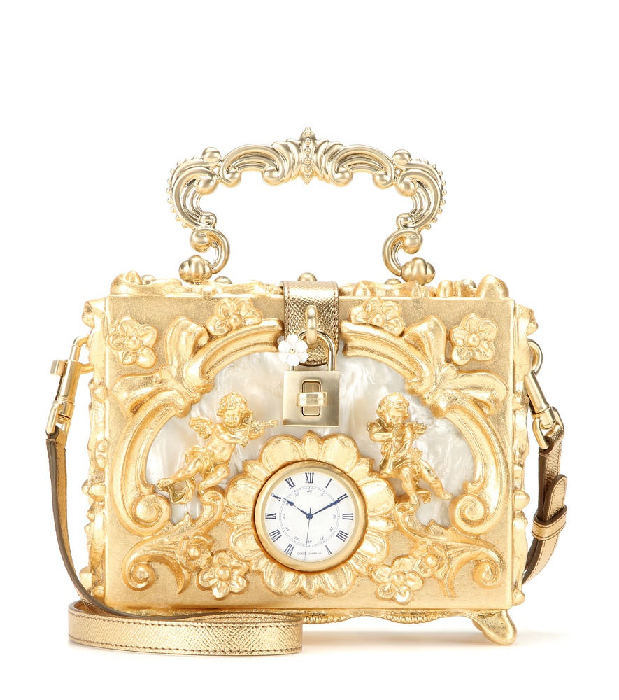 Dolce   Gabbana Dolce Embellished Wooden Shoulder Bag in Metallic - Lyst 7dccffd21a16f