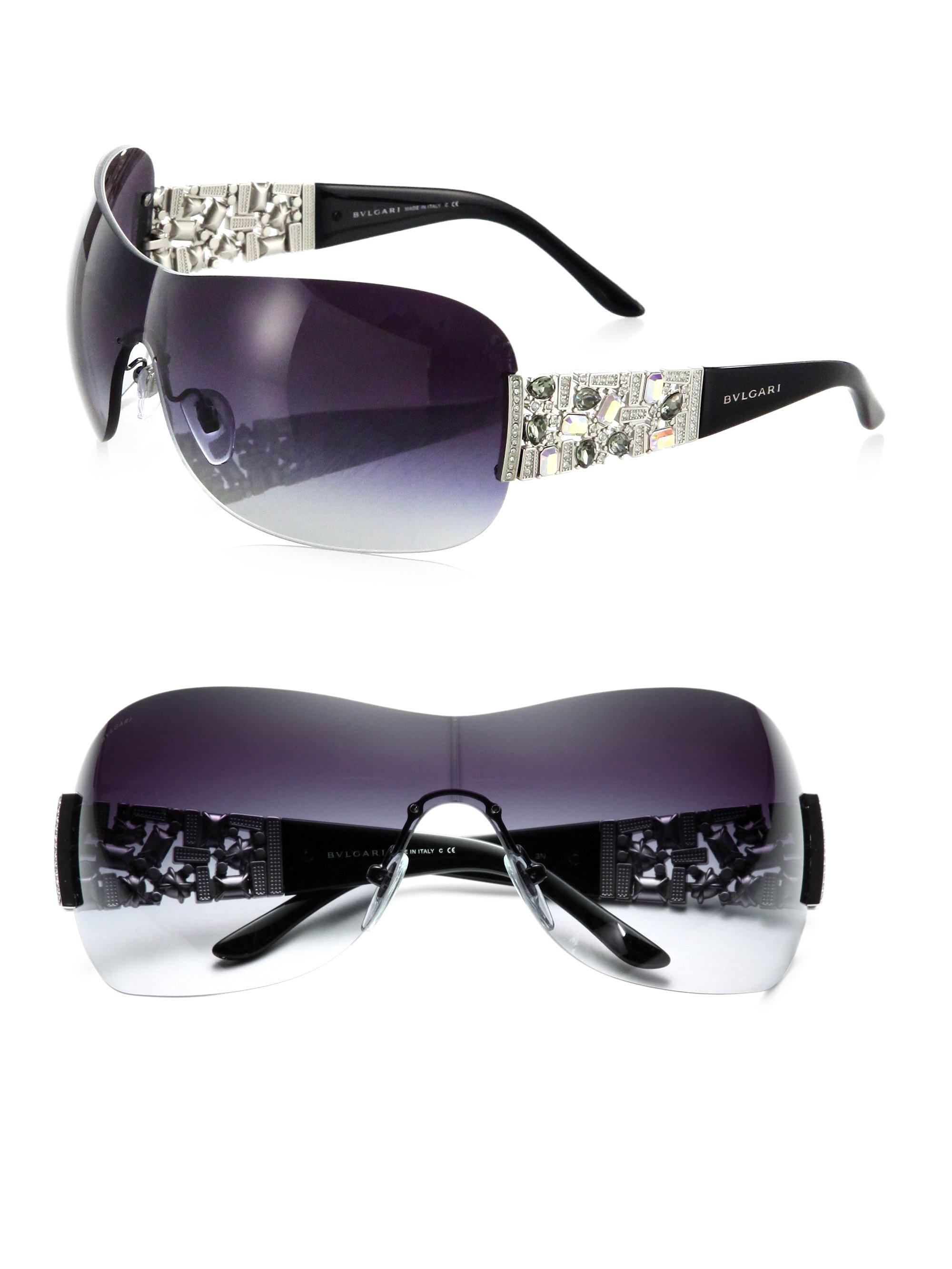 c3e1e8f0ee6c Shop Bvlgari Shield Sunglasses