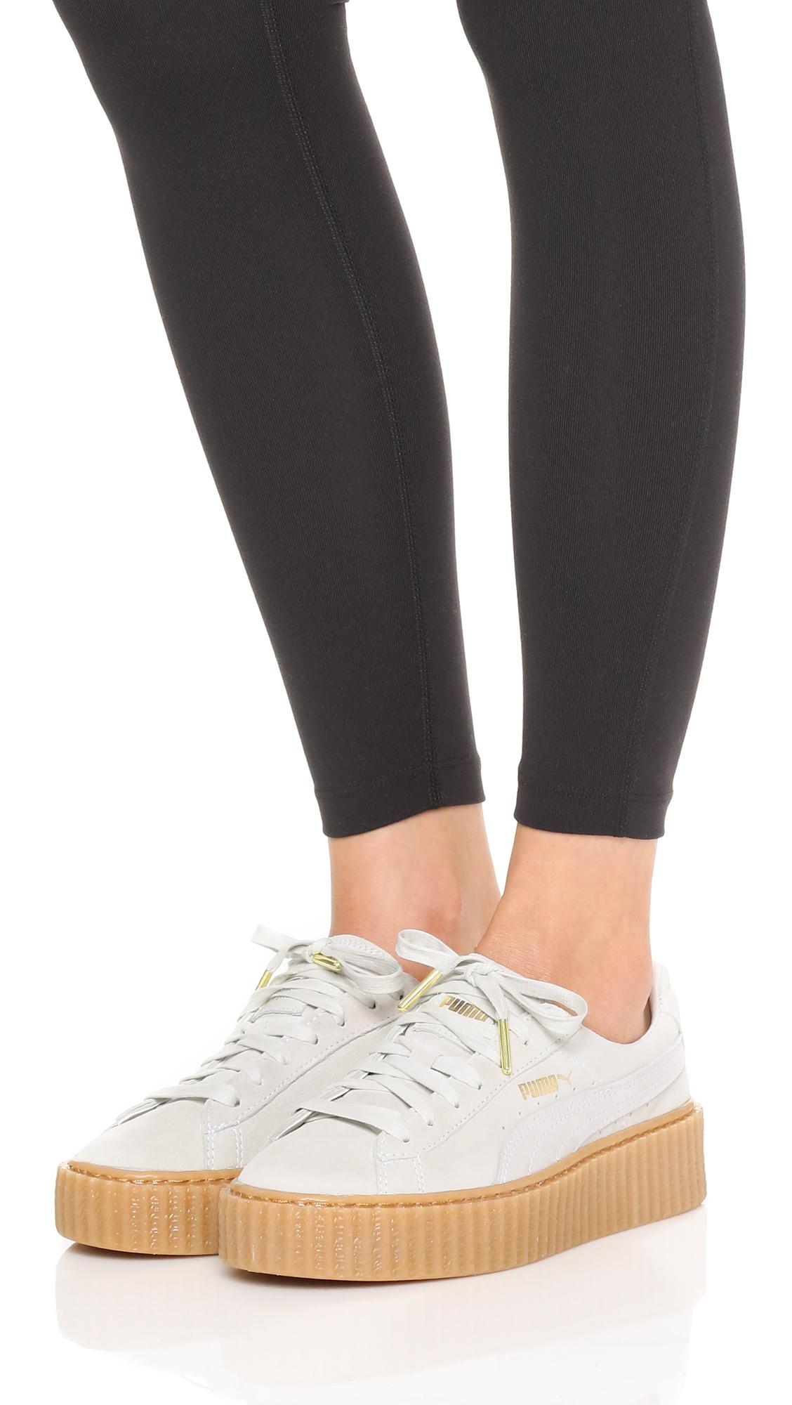 eb3ccd37c34d Lyst - PUMA X Rihanna Creeper Sneakers - Star White oatmeal in White