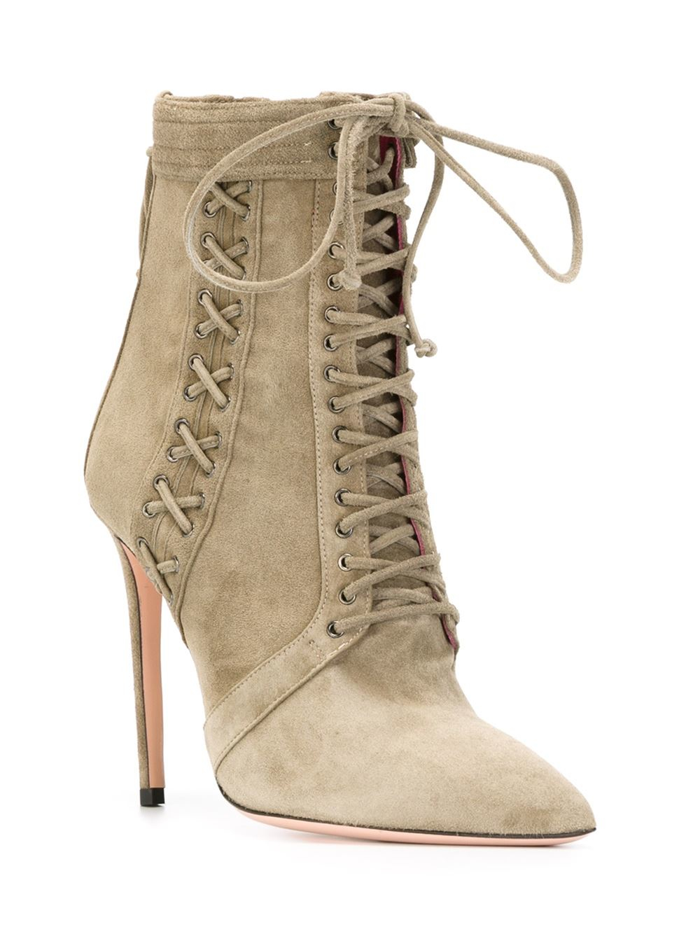 Cost Cheap Price Pick A Best Sale Online Pre-owned - Leather lace up boots Oscar Tiye Countdown Package Cheap Online Supply Online I2QMX3Bp