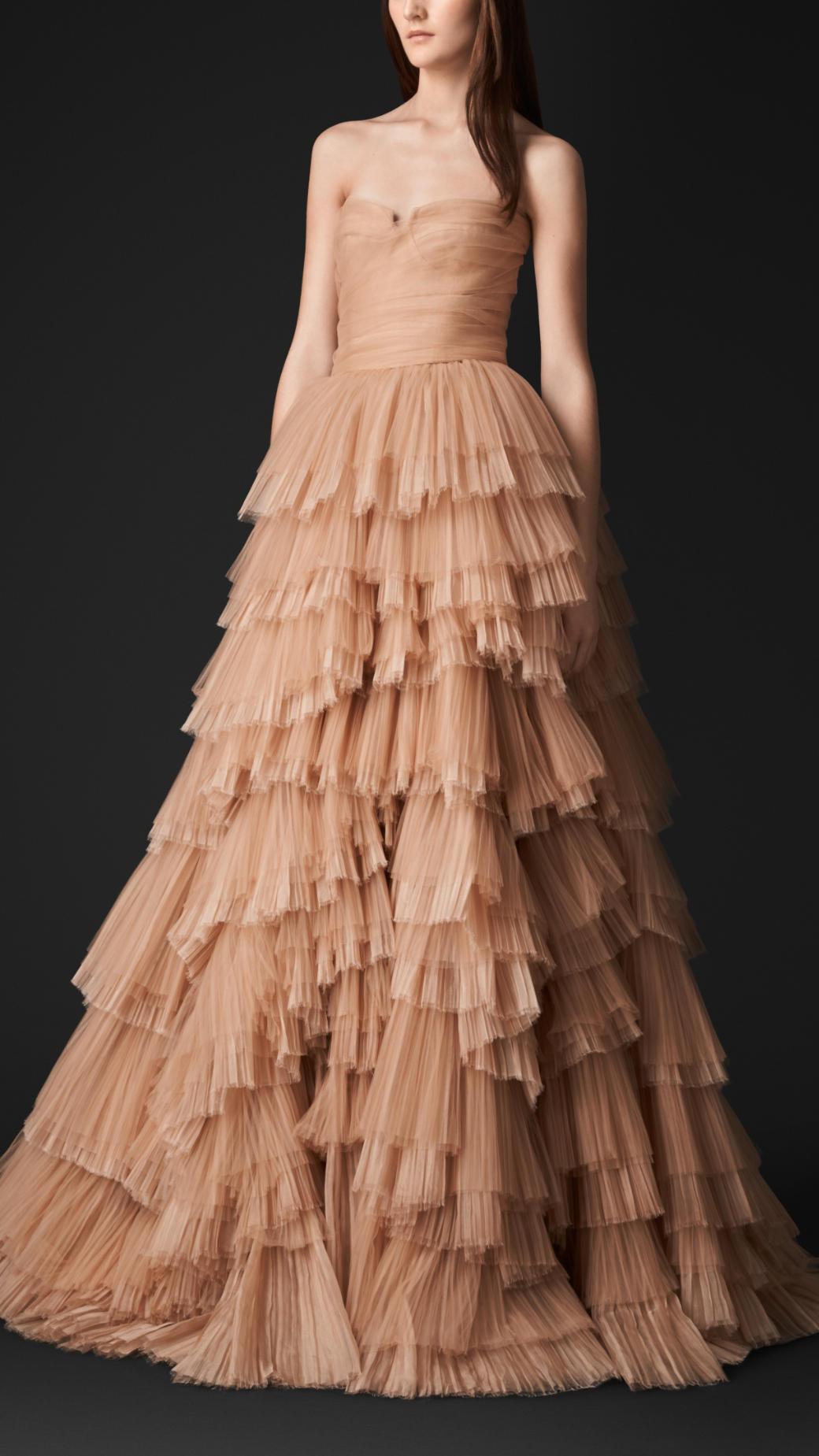 Silk organza evening dresses