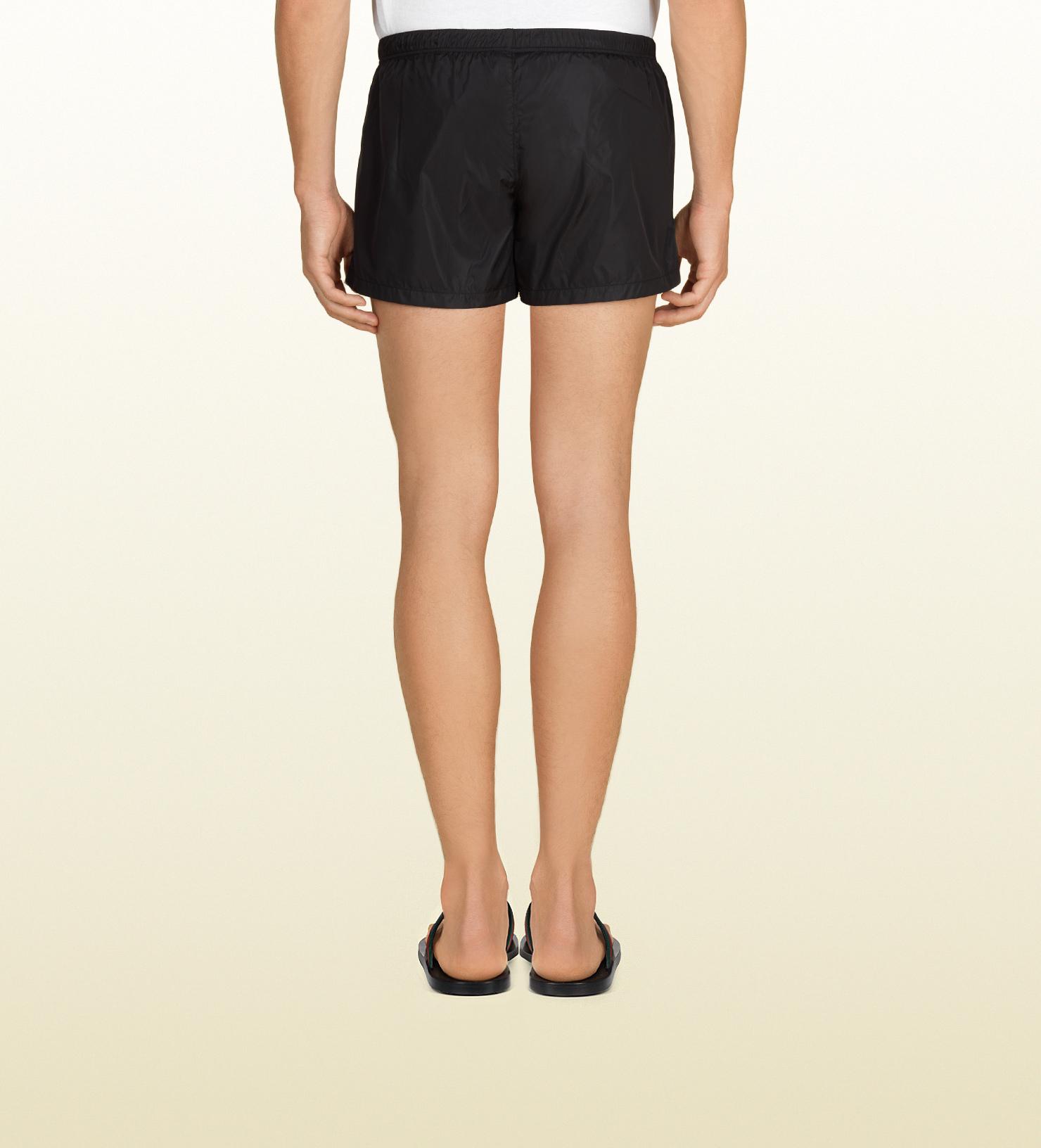 70cc787c28f Gucci Black Nylon Swim Short in Black for Men - Lyst