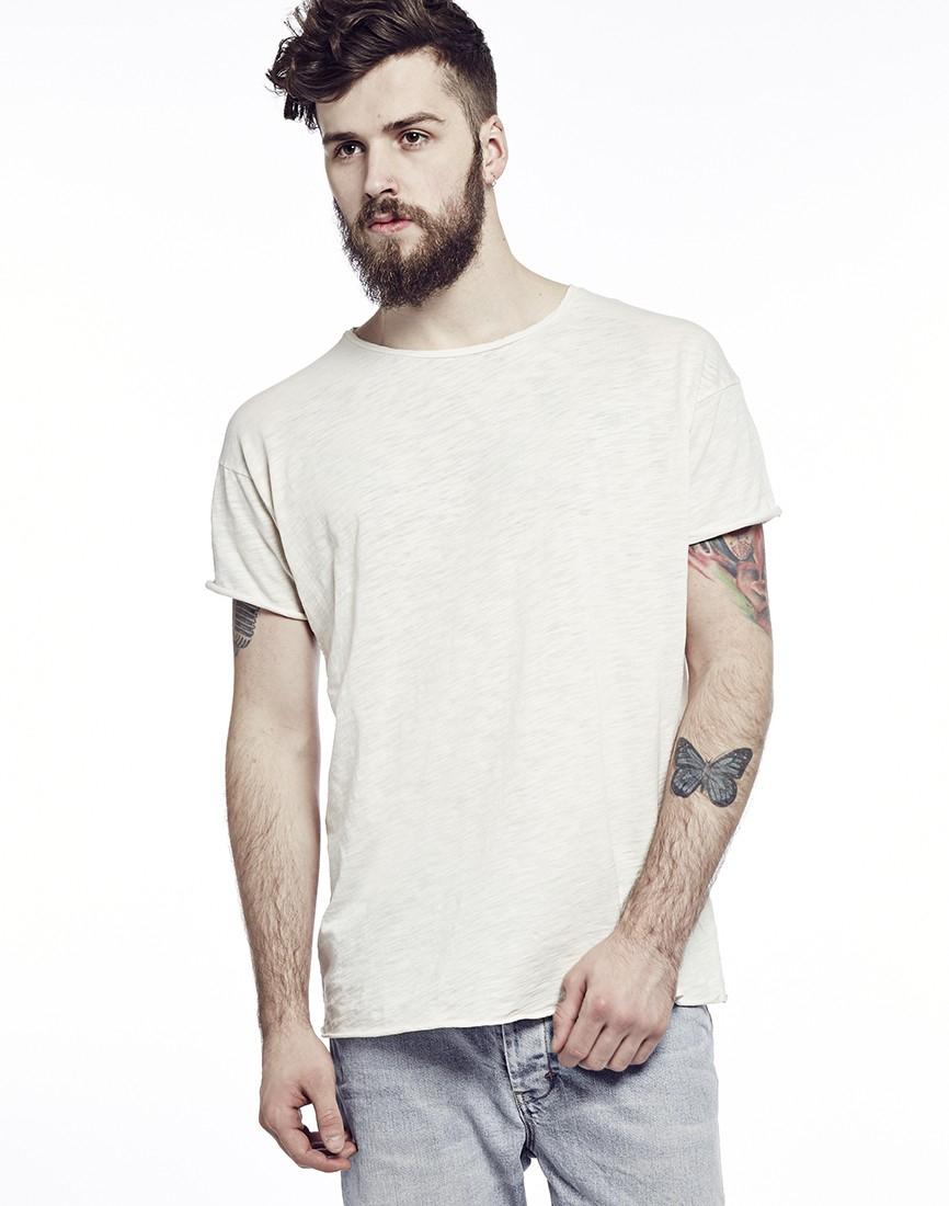 31fdf3f9 Nudie Jeans Jeans Raw Hem Slub T-shirt in White for Men - Lyst