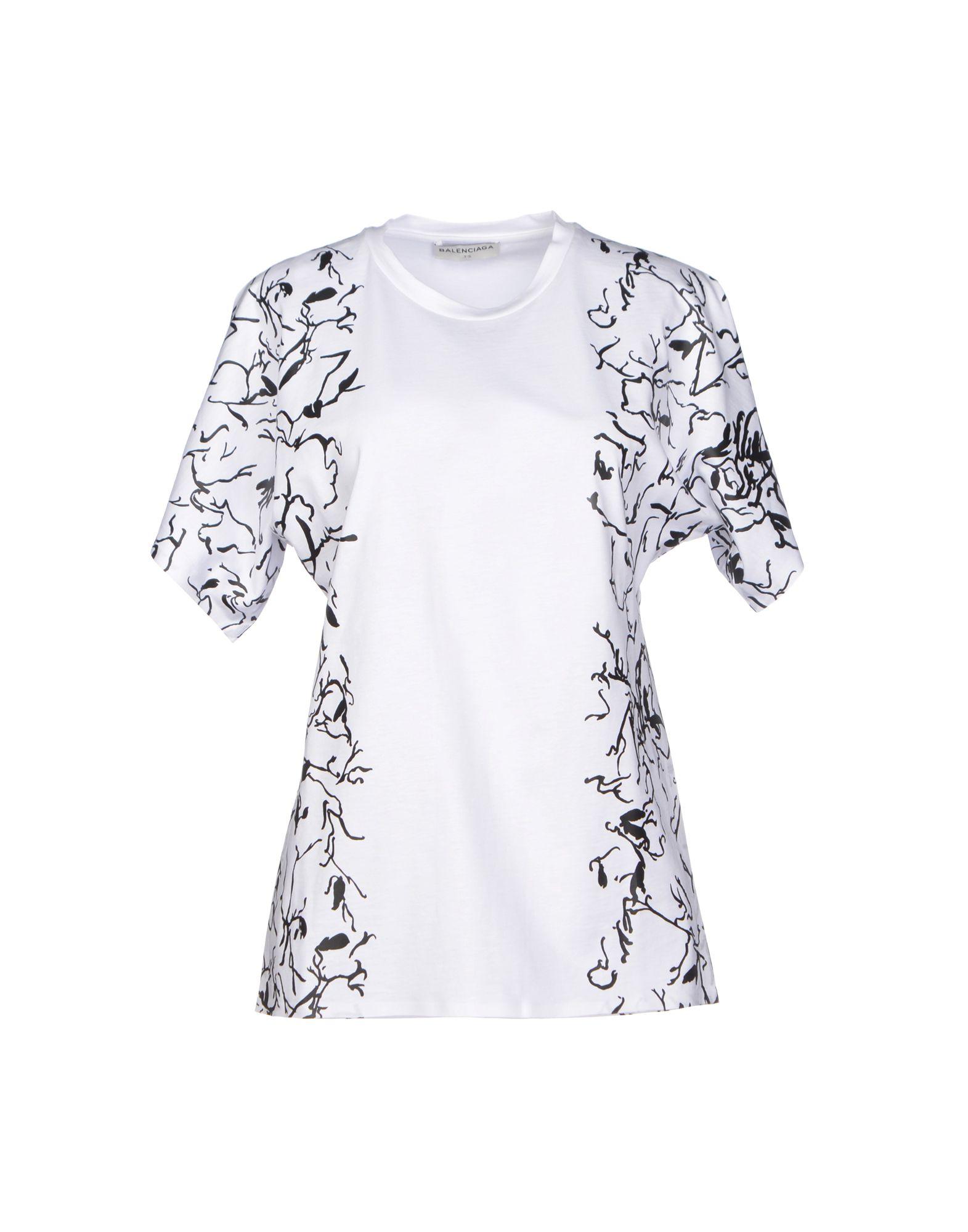 Balenciaga T Shirt In White Lyst
