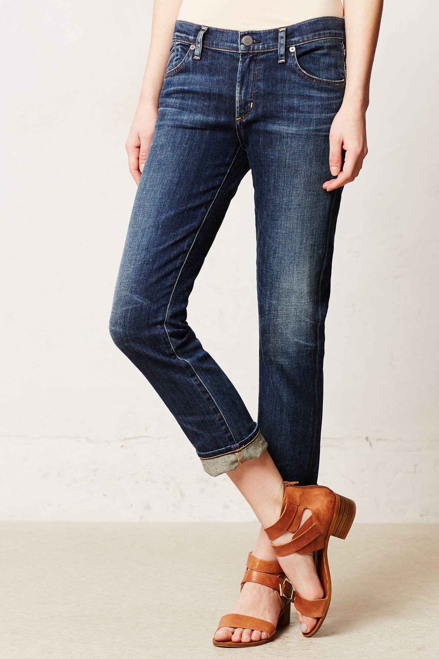 Citizens Of Humanity Phoebe Crop Jeans in Blue (Patina) | Lyst