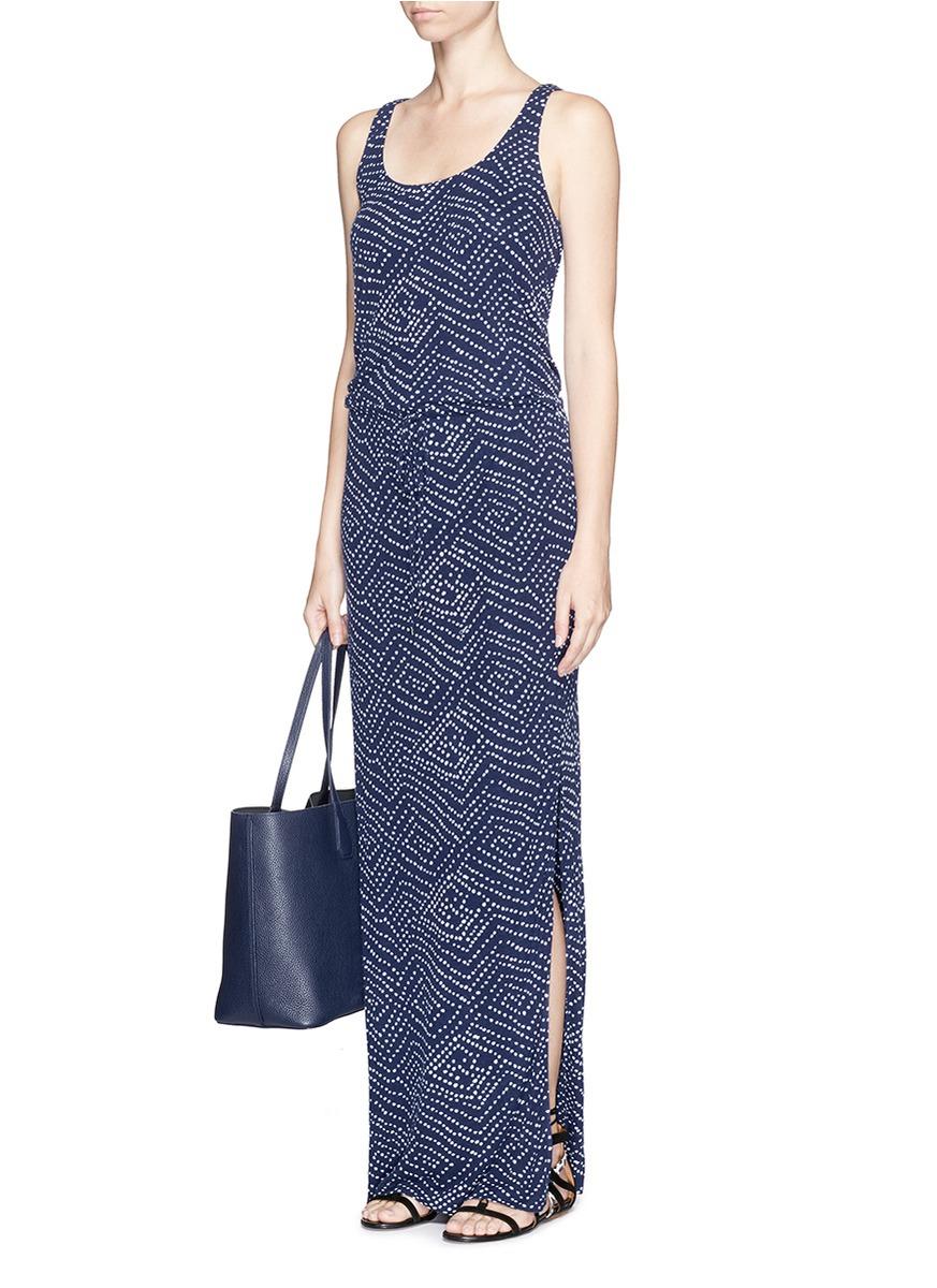 Diane von furstenberg 'sophie' Batik Dot Print Silk Blend Maxi ...