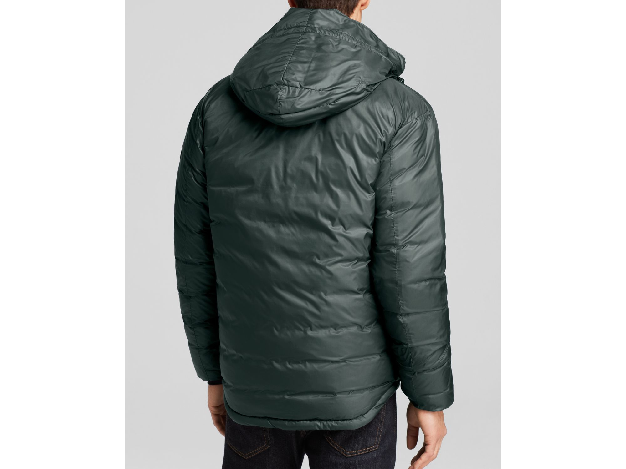 Canada Goose outlet - Canada goose Lodge Hooded Down Jacket in Black for Men (Slate) | Lyst