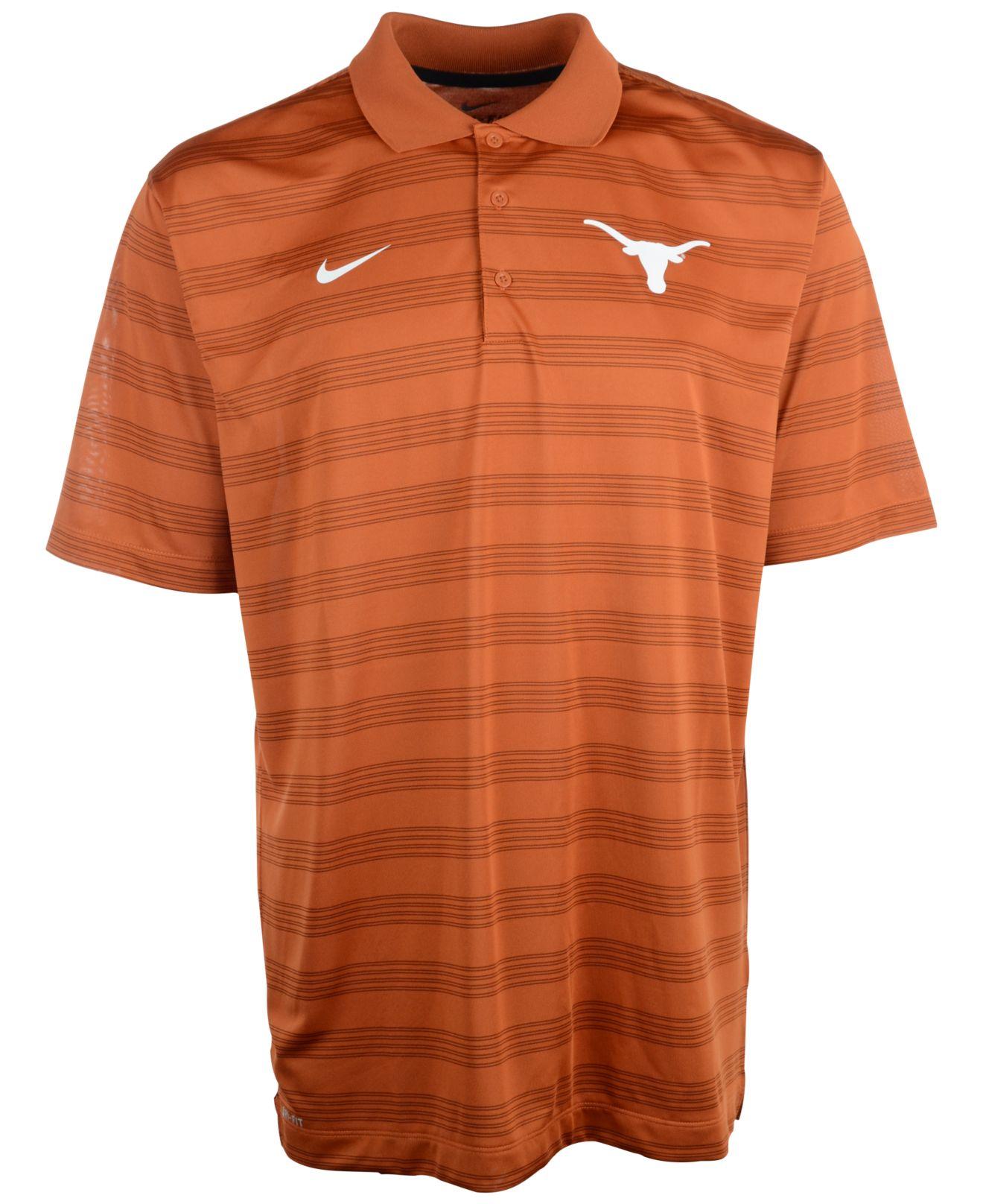 6e802c3c Nike Men's Texas Longhorns Dri-fit Preseason Polo Shirt in Orange ...