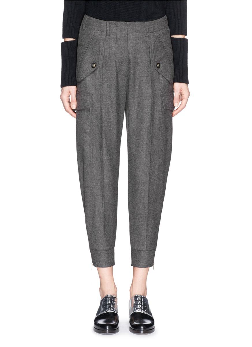 Cropped wool trousers Stella McCartney jqeV6rrTM5