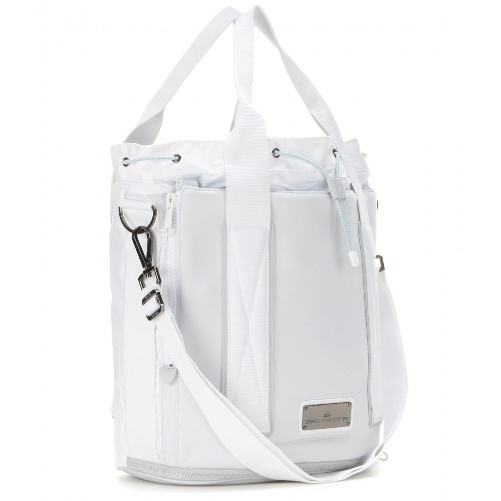 7909392f760 Lyst - adidas By Stella McCartney Tennis Drawstring Bag in White