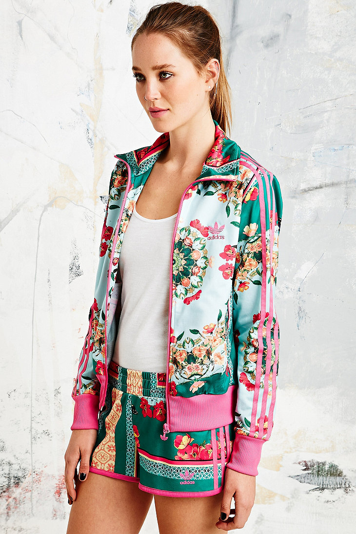 Adidas X The Farm Company Borboflor Jacket In Floral Print Lyst